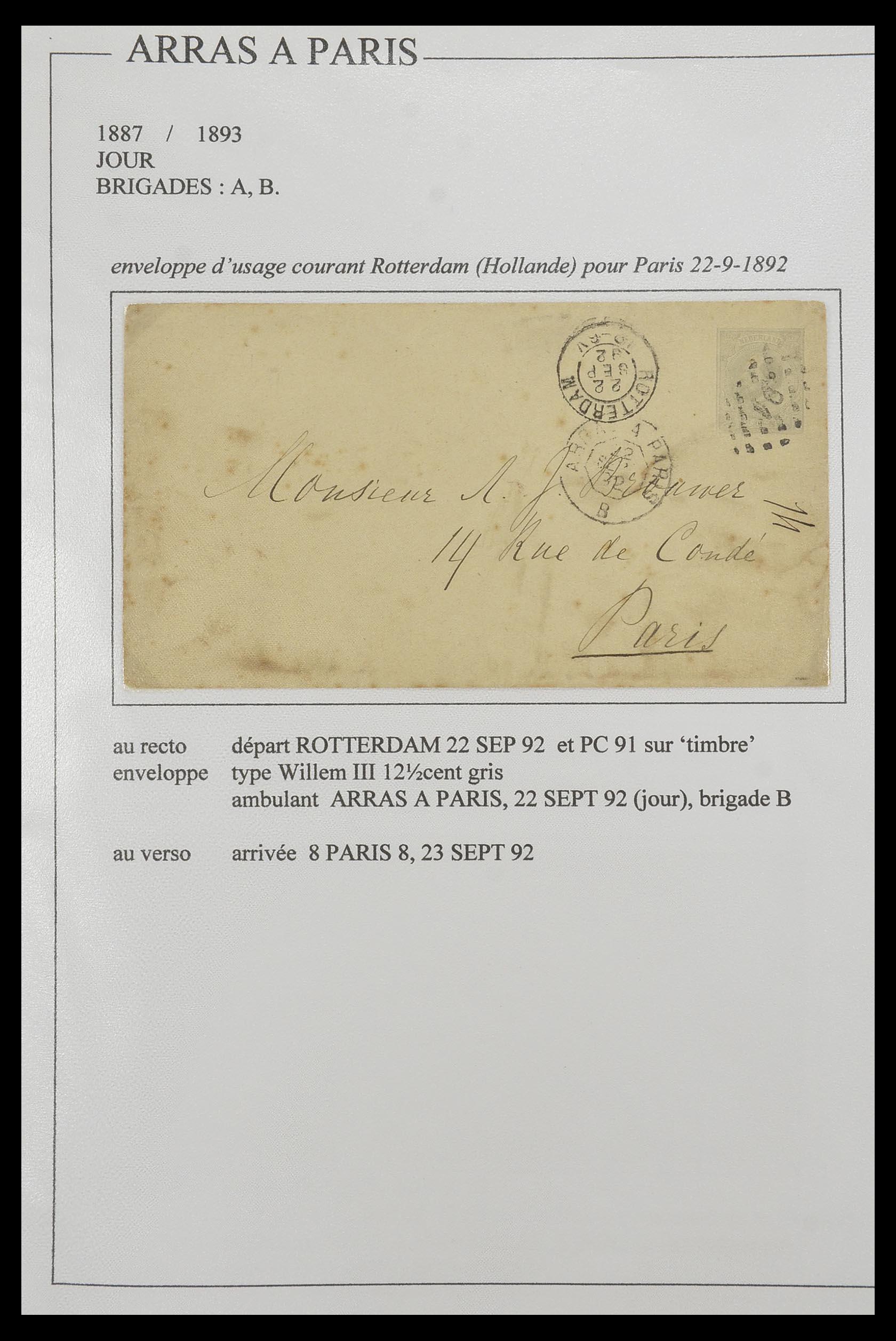 33624 002 - Postzegelverzameling 33624 Frankrijk brieven 1854-1907.