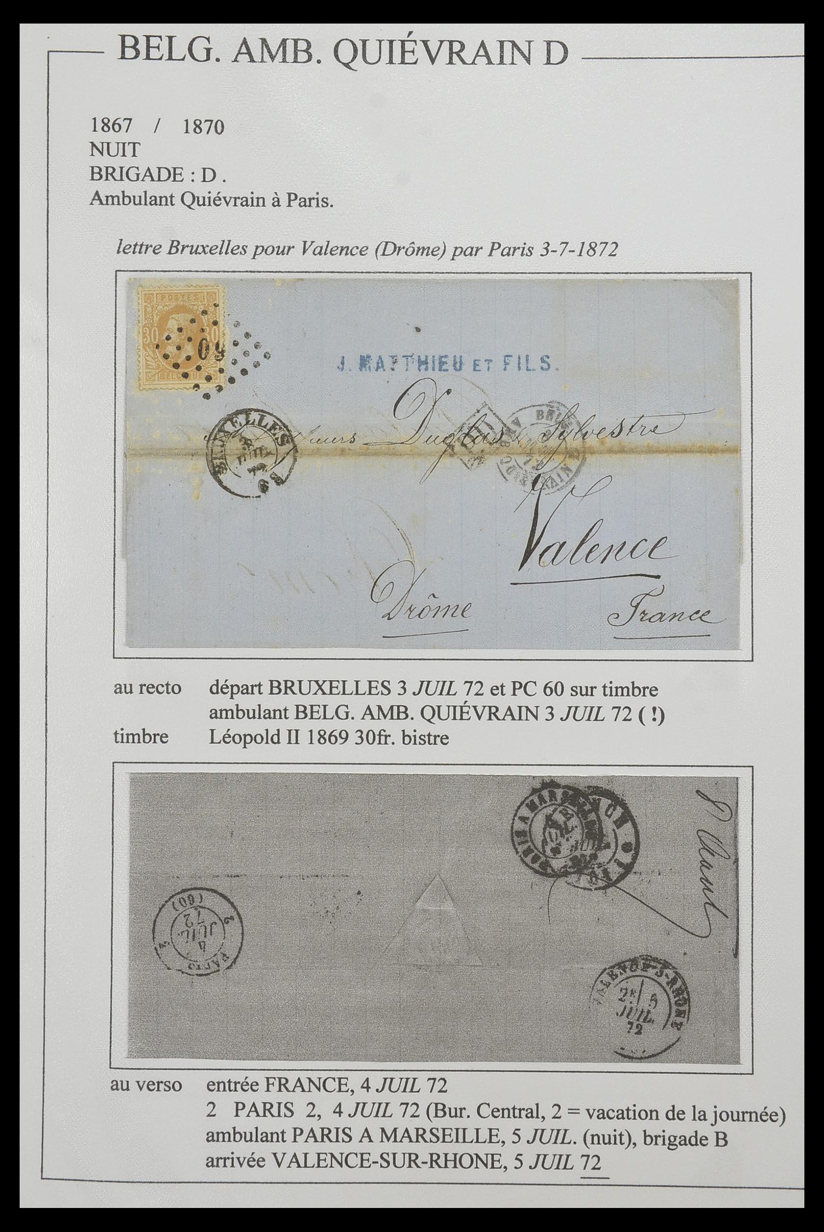 33624 003 - Postzegelverzameling 33624 Frankrijk brieven 1854-1907.