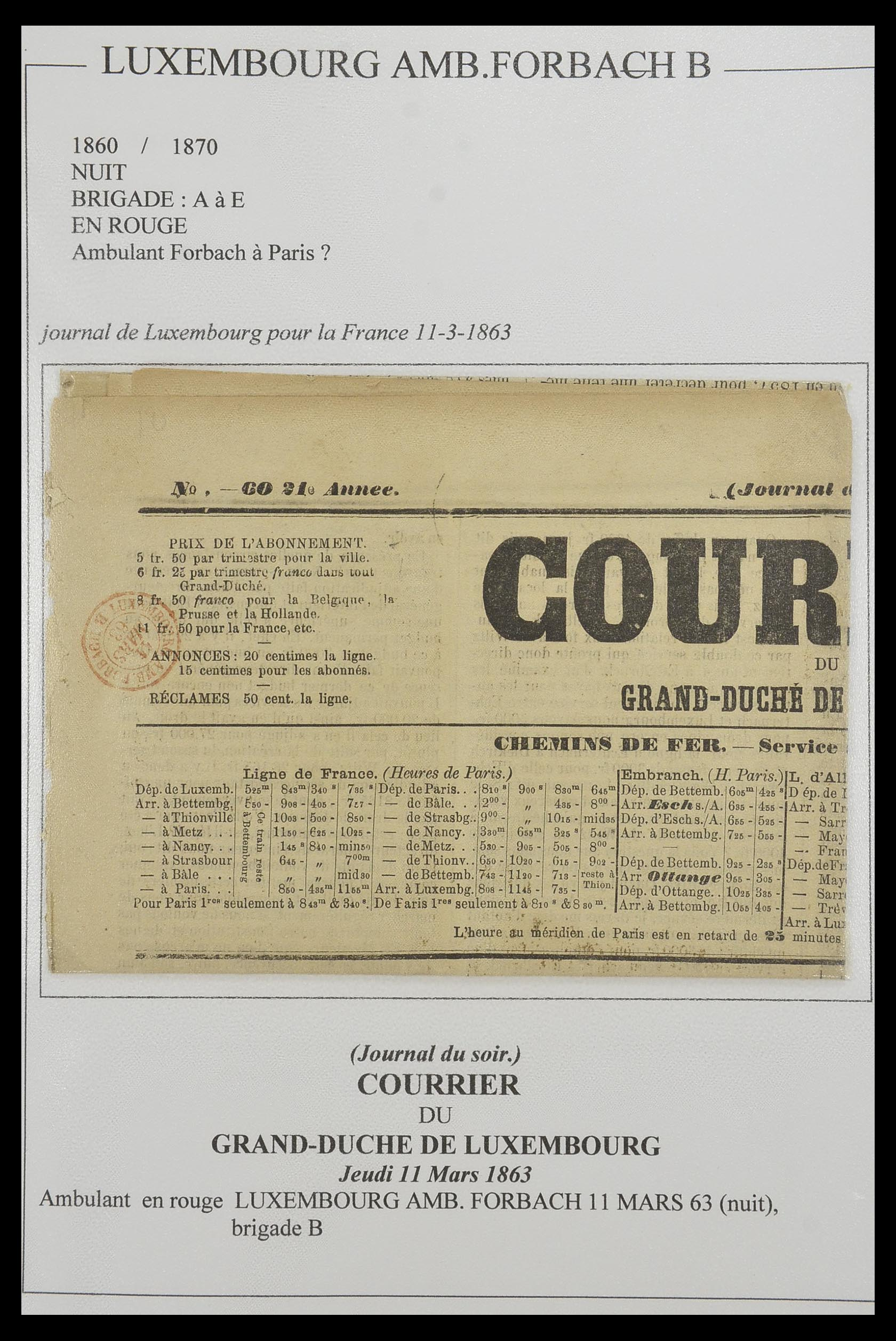 33624 004 - Postzegelverzameling 33624 Frankrijk brieven 1854-1907.