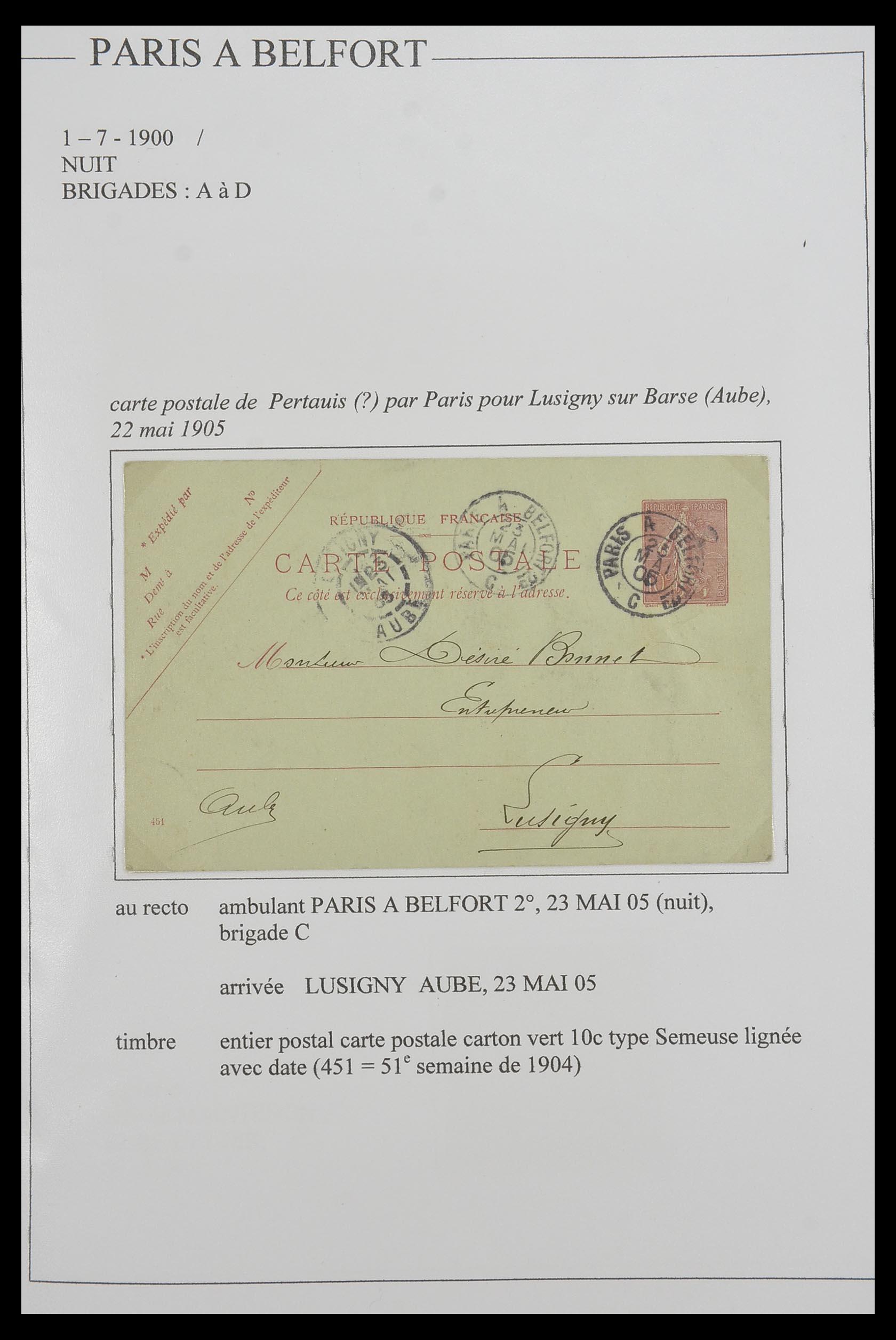 33624 005 - Postzegelverzameling 33624 Frankrijk brieven 1854-1907.