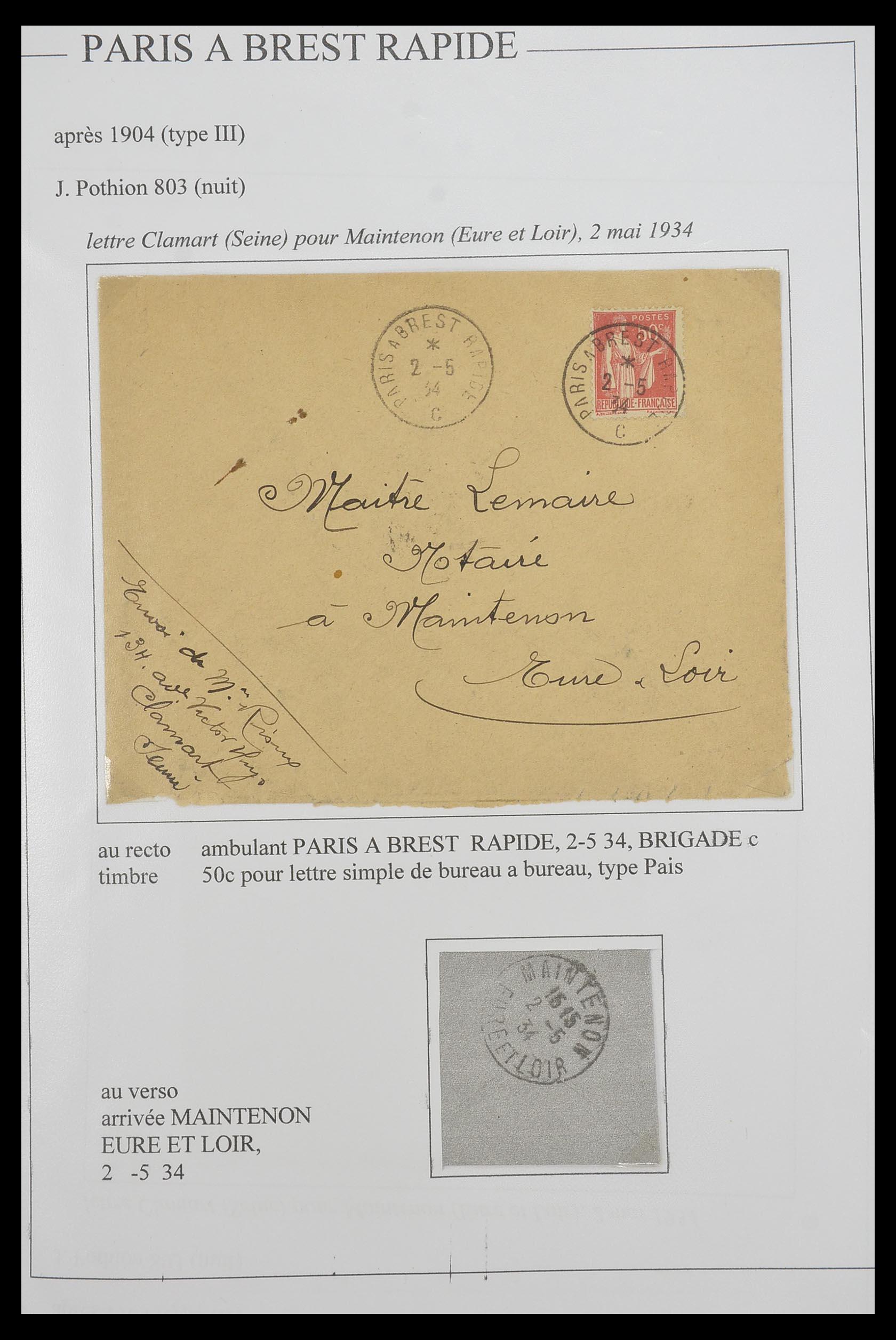 33624 006 - Postzegelverzameling 33624 Frankrijk brieven 1854-1907.