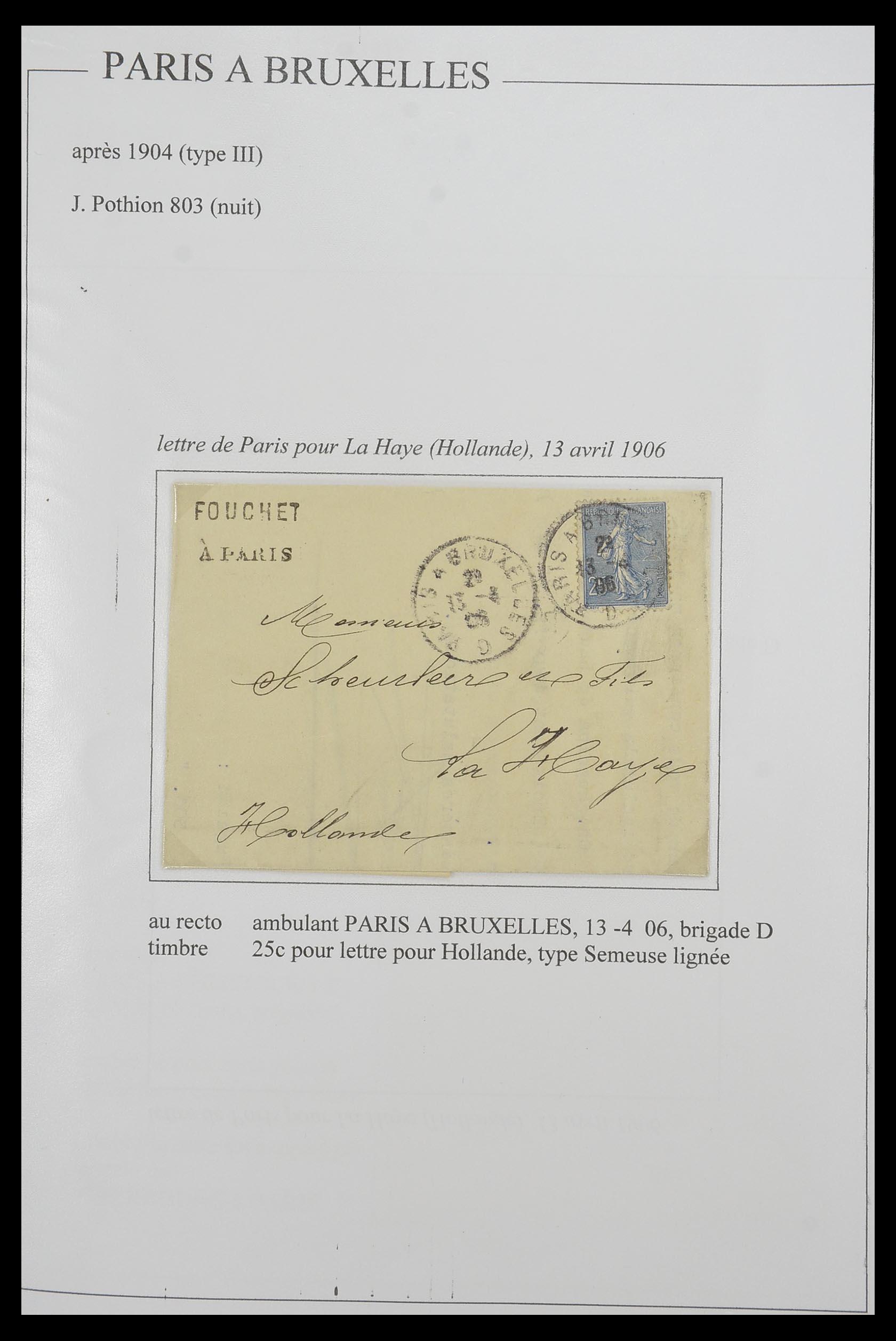 33624 007 - Postzegelverzameling 33624 Frankrijk brieven 1854-1907.