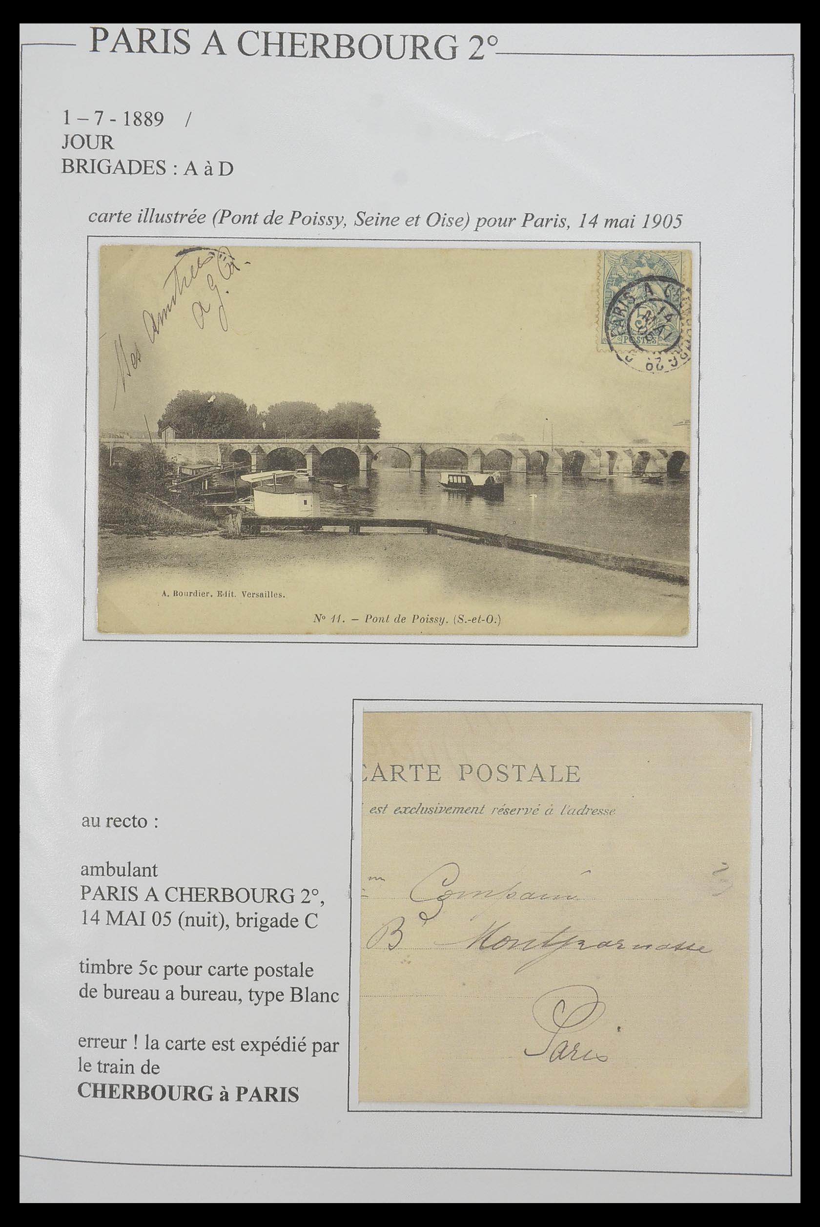 33624 008 - Postzegelverzameling 33624 Frankrijk brieven 1854-1907.