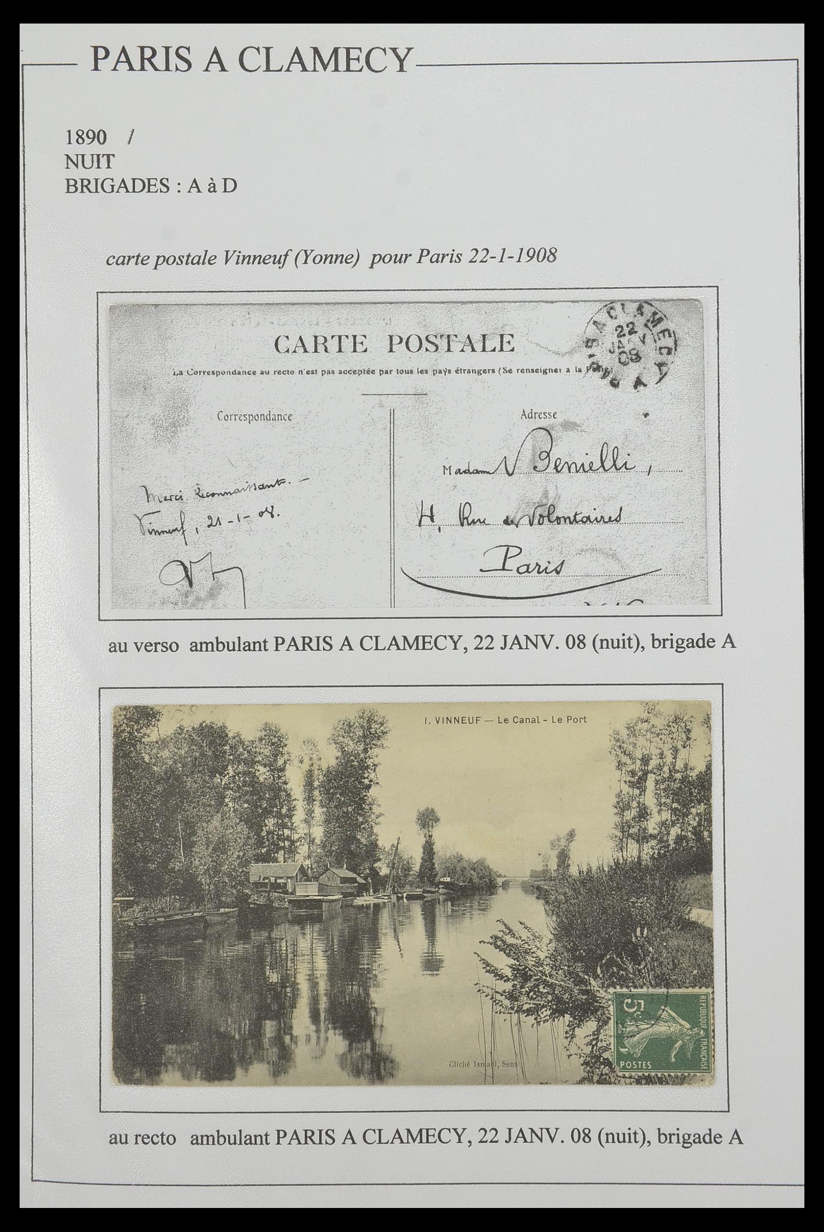 33624 009 - Postzegelverzameling 33624 Frankrijk brieven 1854-1907.