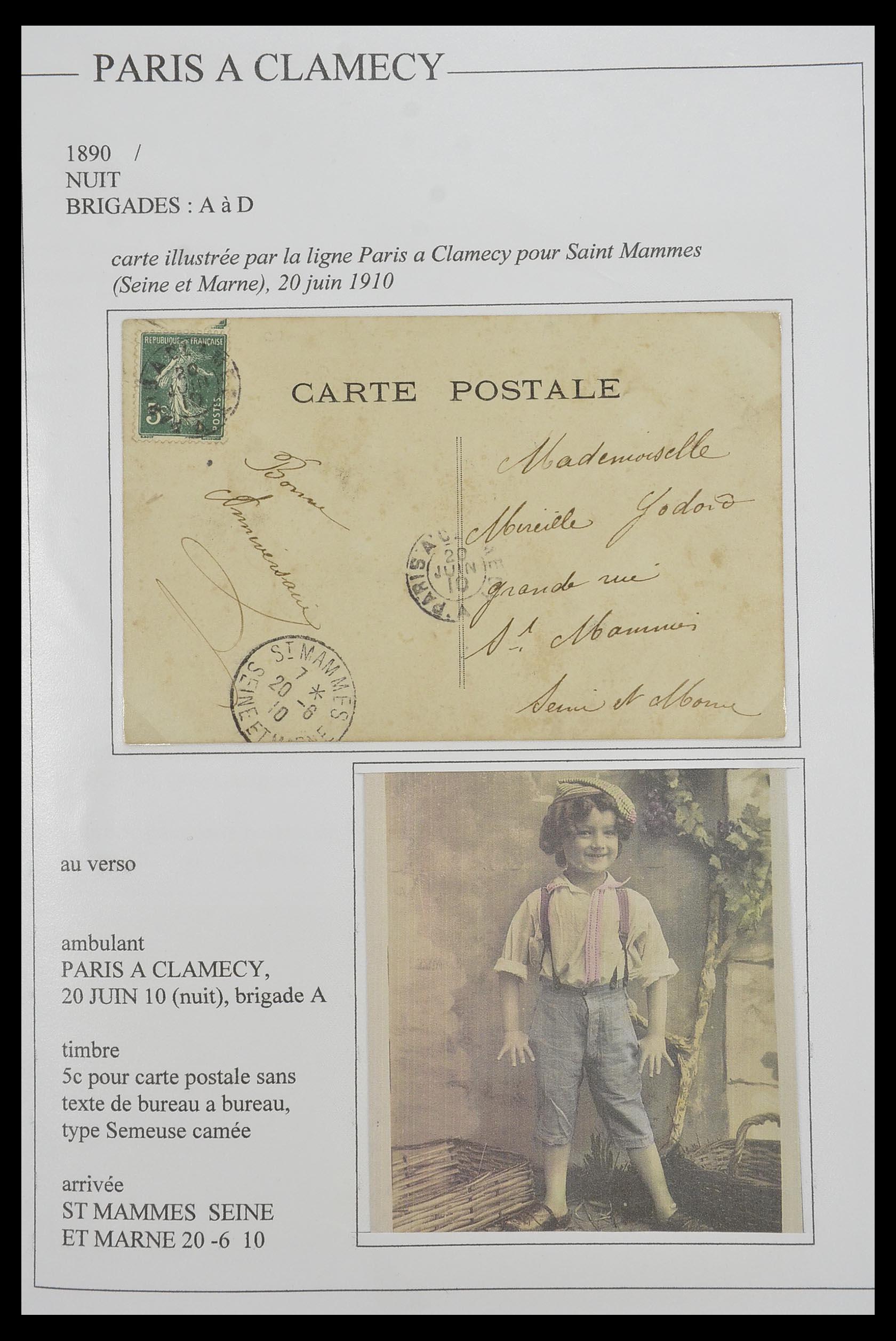 33624 010 - Postzegelverzameling 33624 Frankrijk brieven 1854-1907.