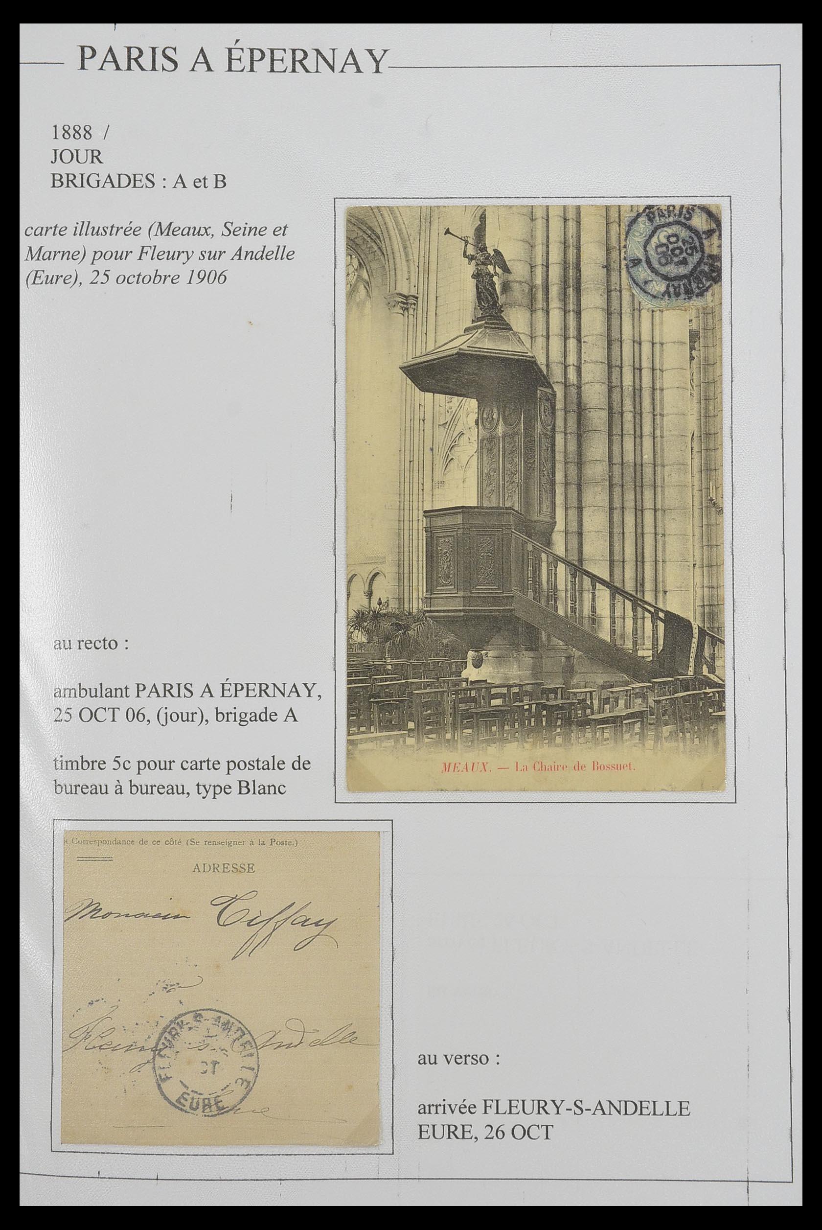 33624 011 - Postzegelverzameling 33624 Frankrijk brieven 1854-1907.