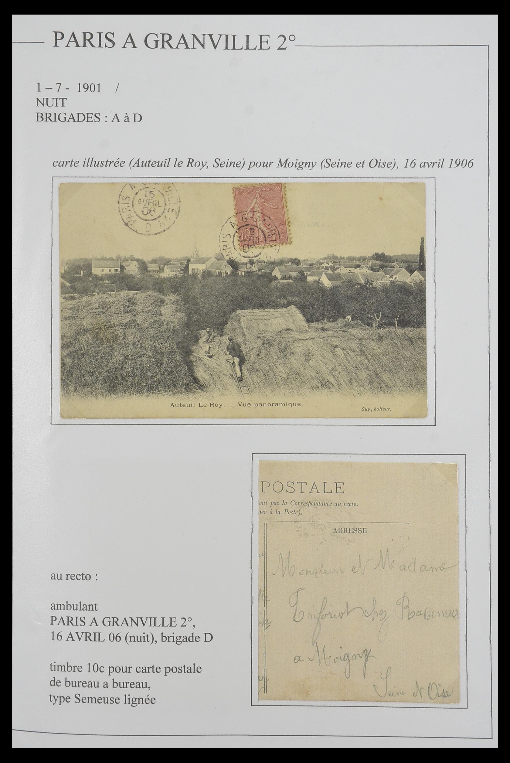 33624 012 - Postzegelverzameling 33624 Frankrijk brieven 1854-1907.