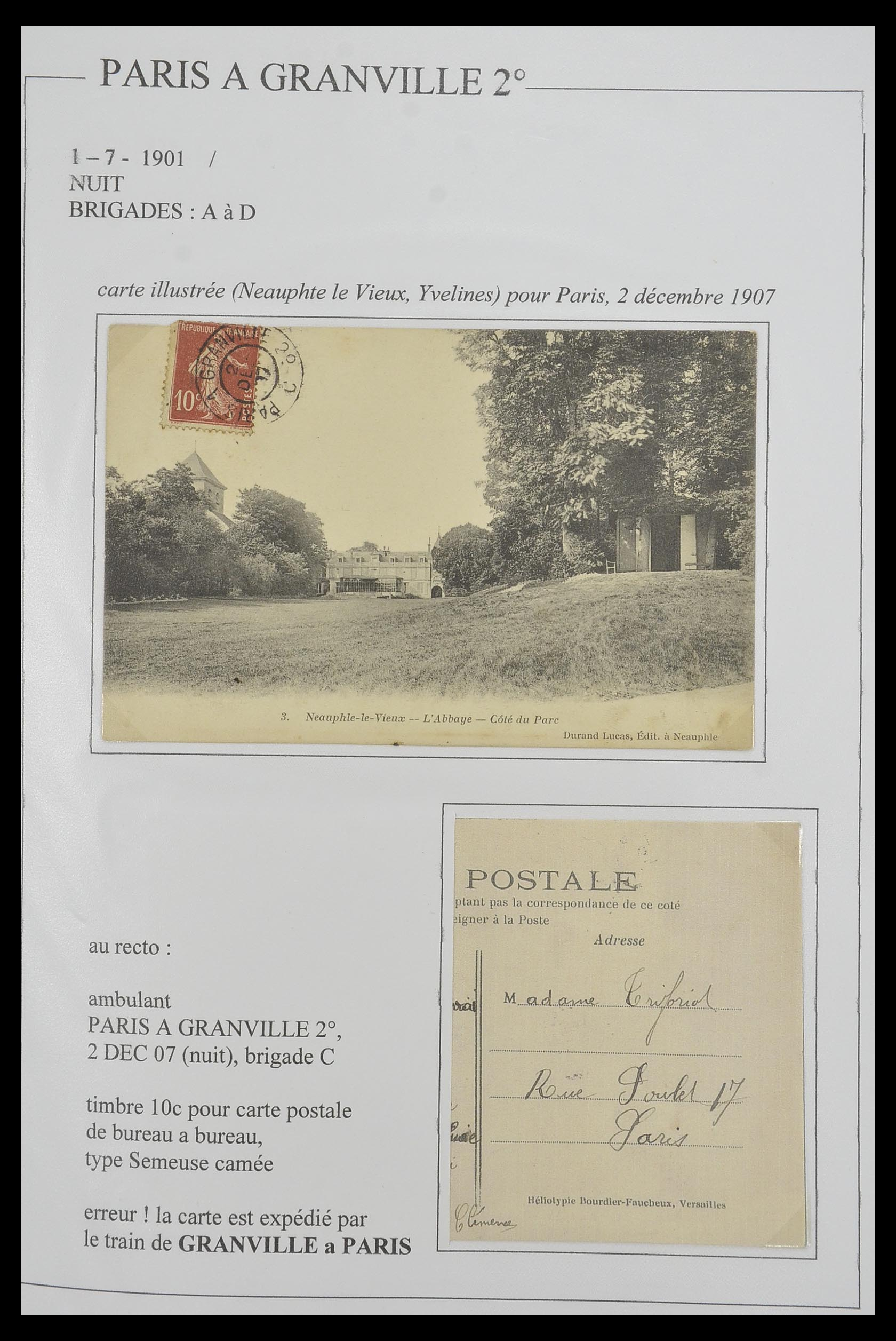 33624 013 - Postzegelverzameling 33624 Frankrijk brieven 1854-1907.