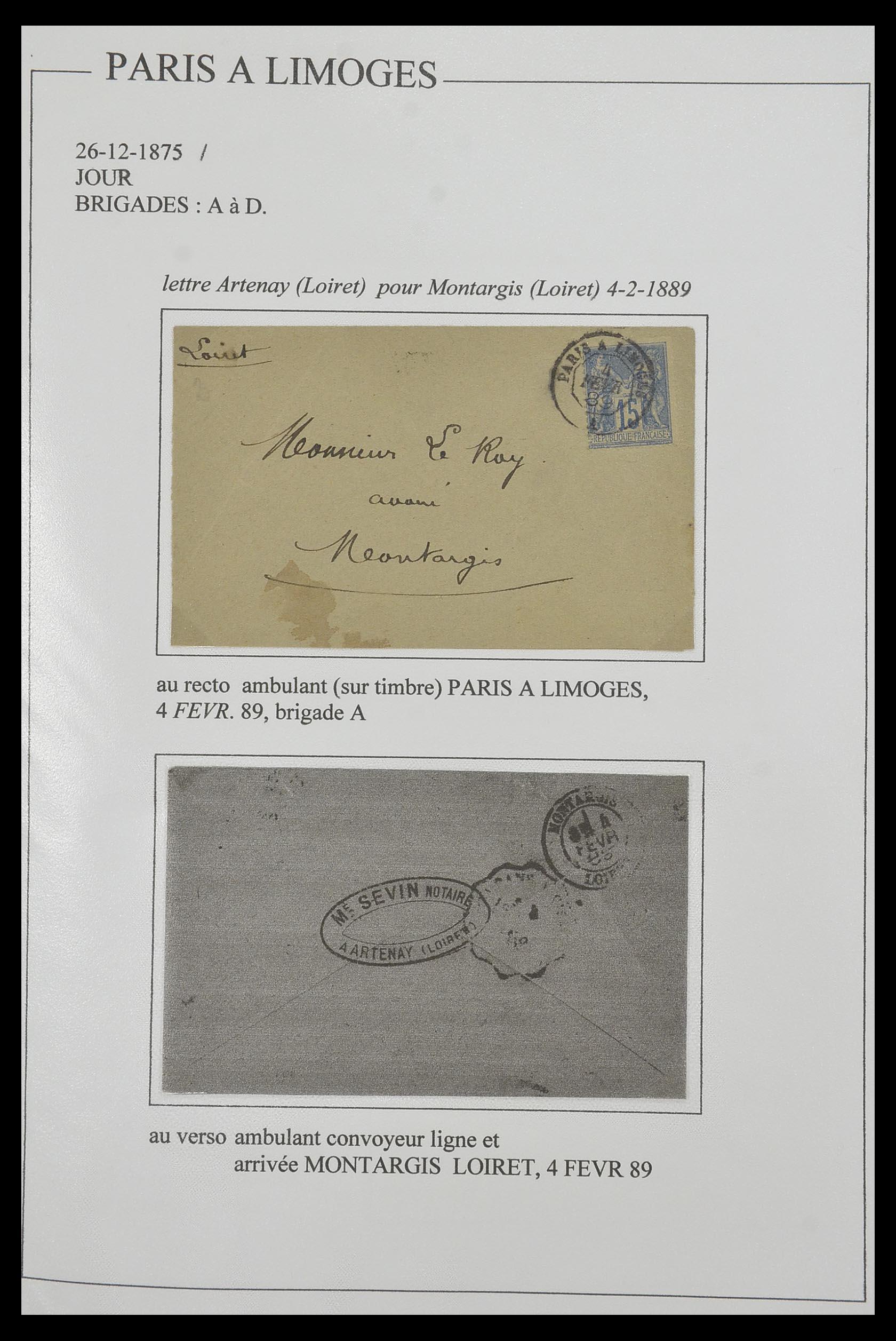 33624 014 - Postzegelverzameling 33624 Frankrijk brieven 1854-1907.
