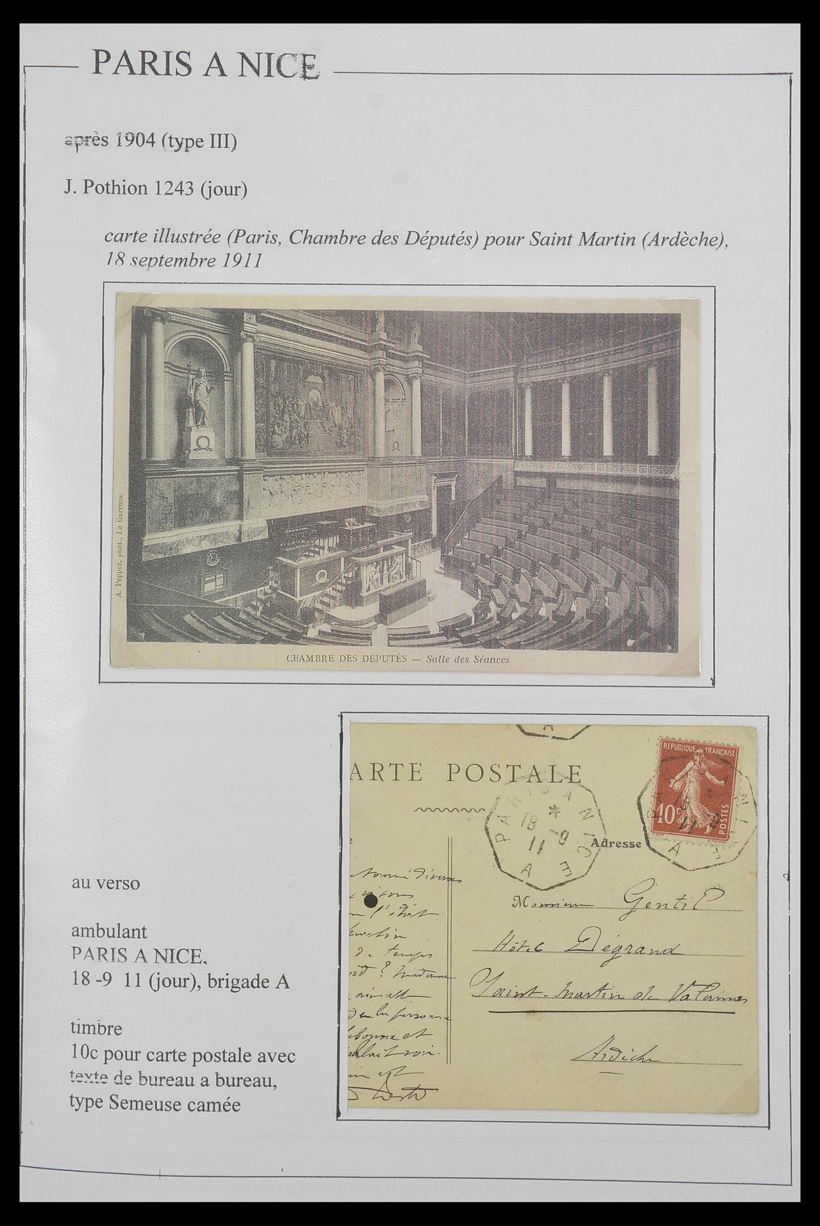 33624 015 - Postzegelverzameling 33624 Frankrijk brieven 1854-1907.