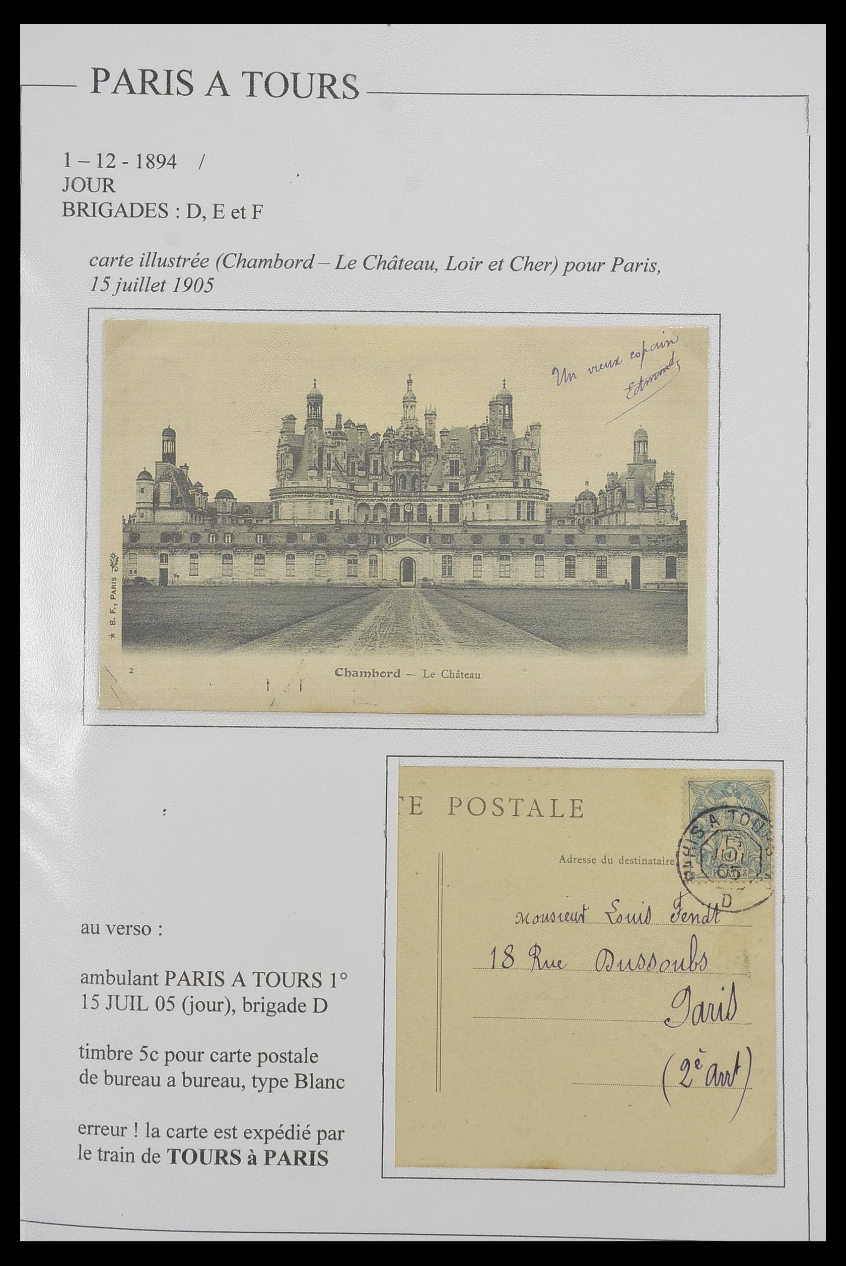33624 016 - Postzegelverzameling 33624 Frankrijk brieven 1854-1907.