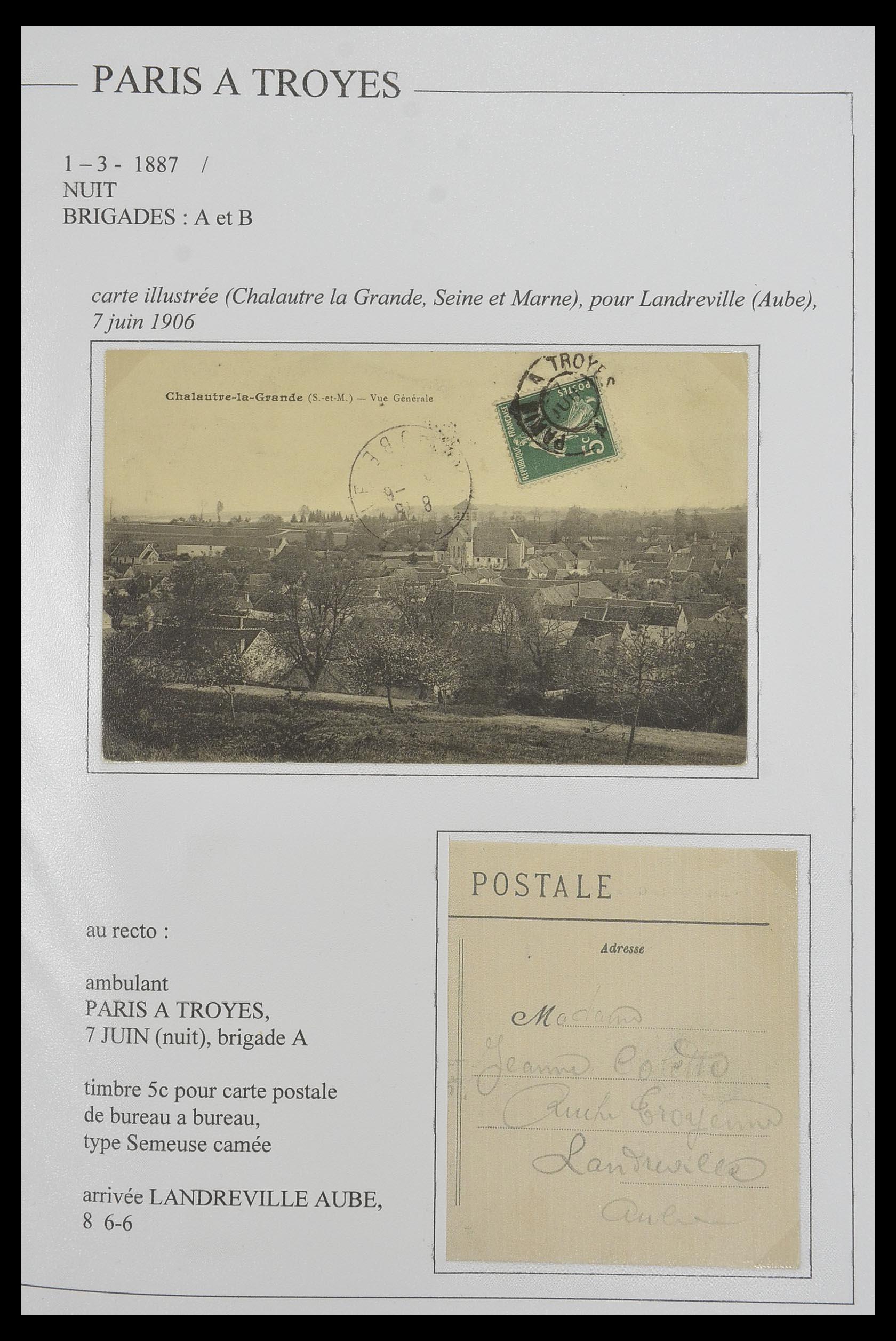 33624 017 - Postzegelverzameling 33624 Frankrijk brieven 1854-1907.