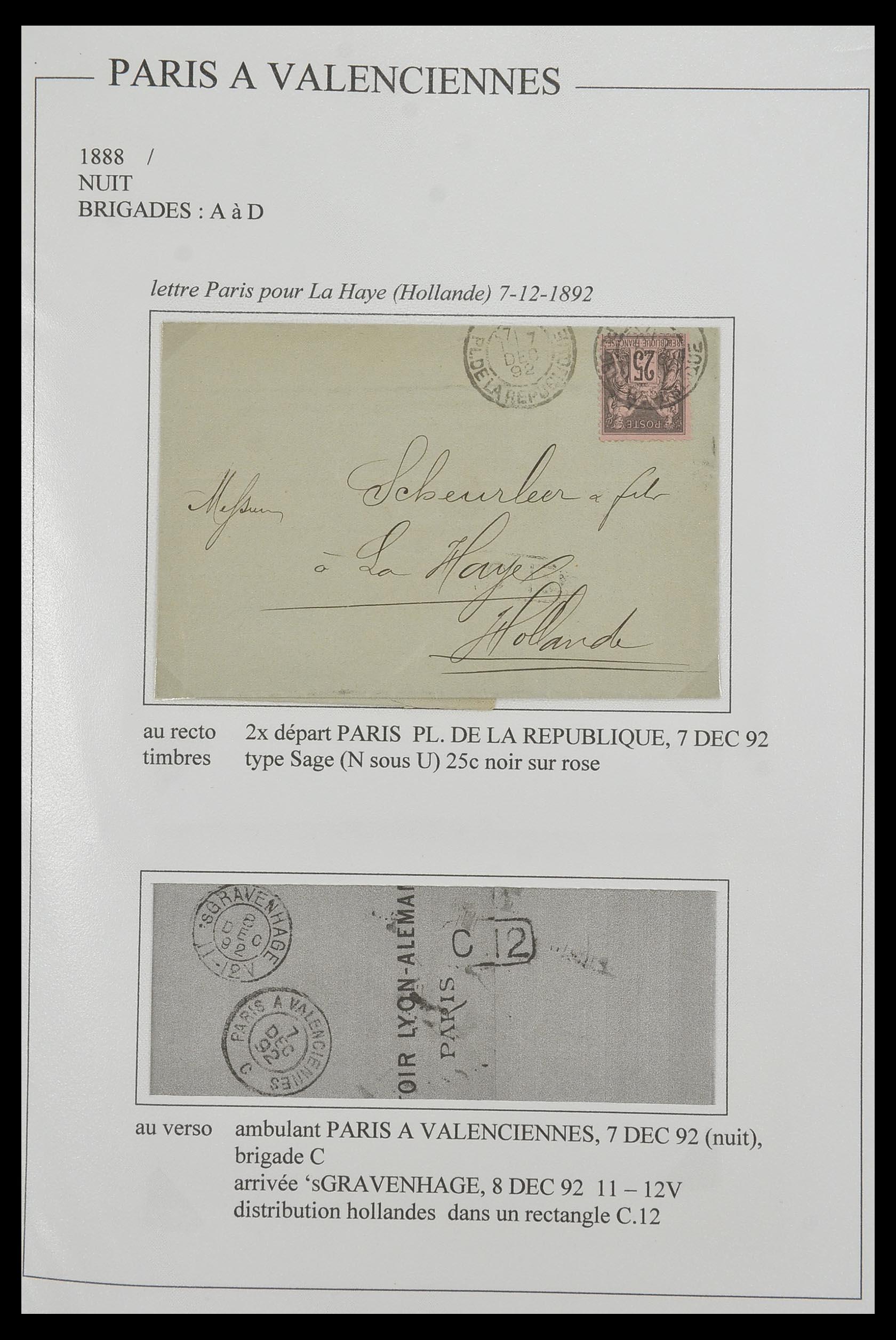 33624 018 - Postzegelverzameling 33624 Frankrijk brieven 1854-1907.