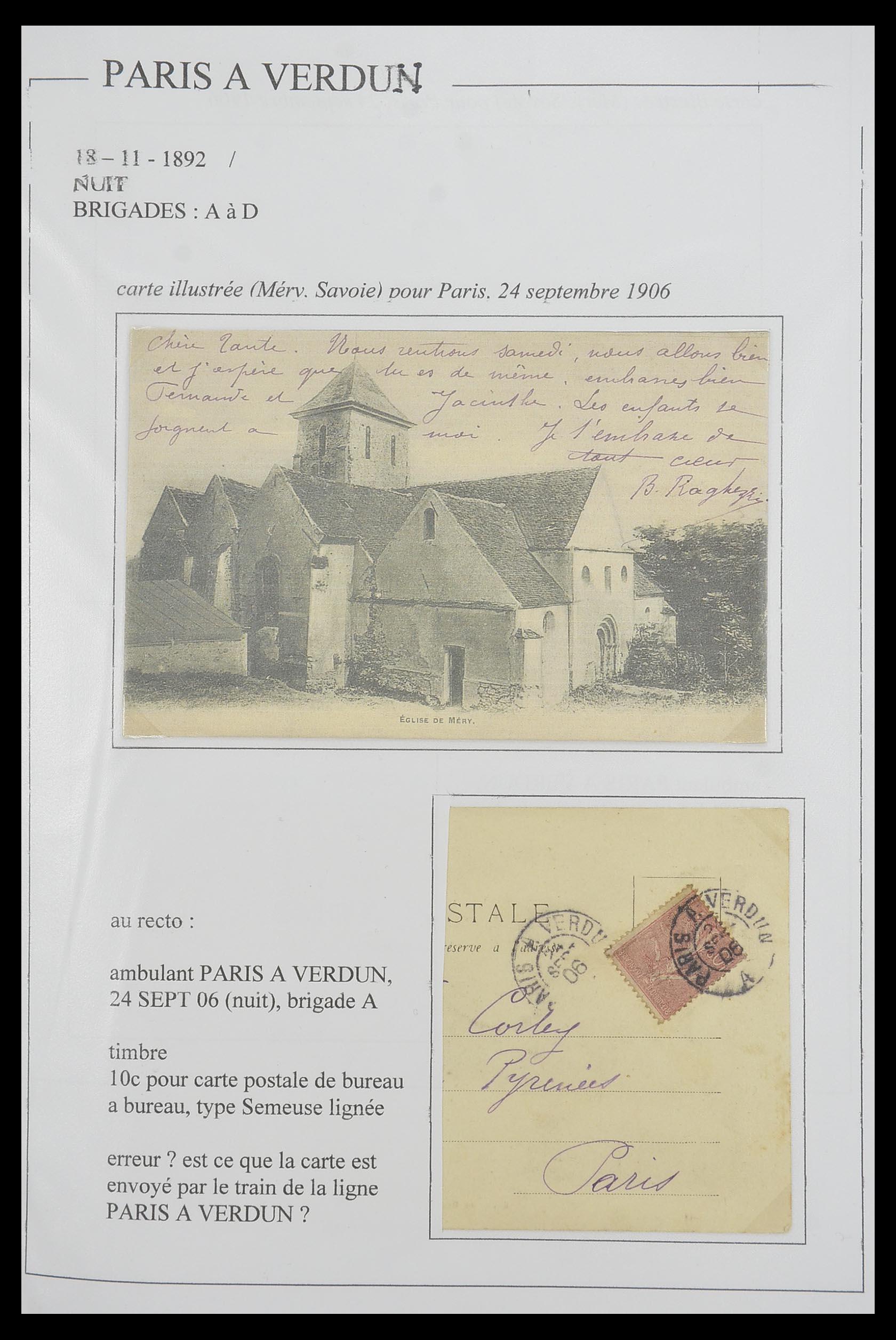 33624 019 - Postzegelverzameling 33624 Frankrijk brieven 1854-1907.