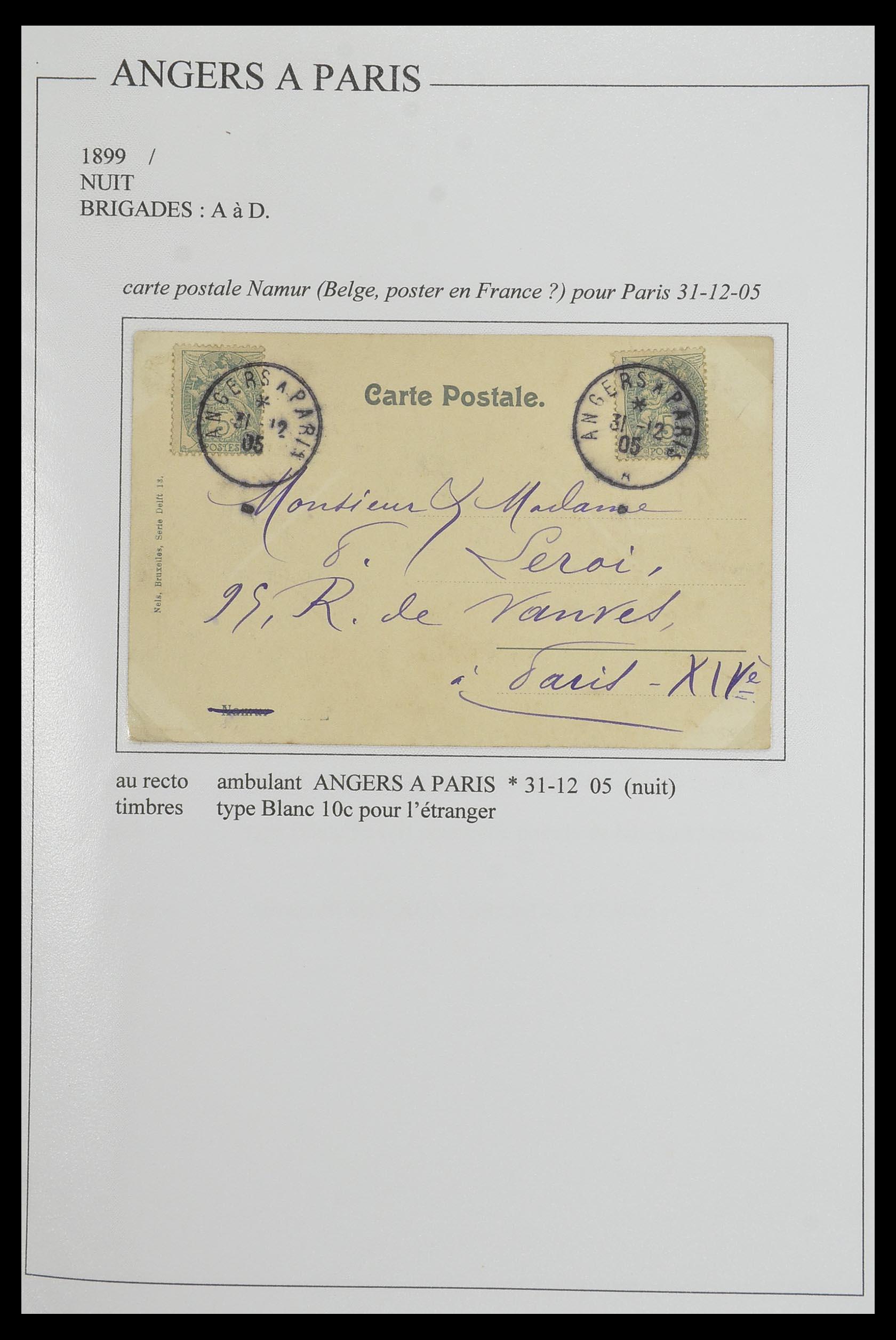 33624 020 - Postzegelverzameling 33624 Frankrijk brieven 1854-1907.