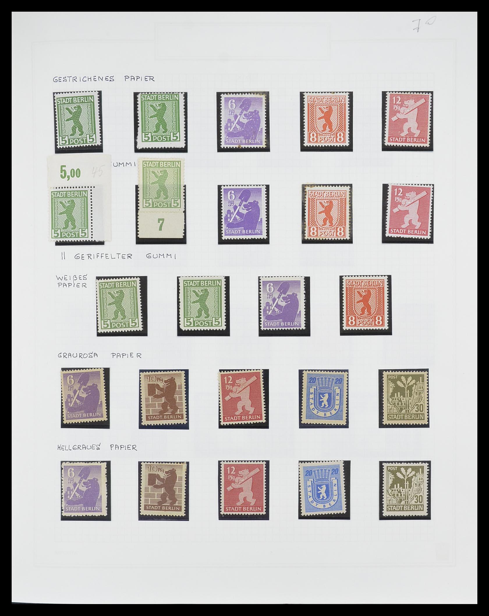 33698 001 - Postzegelverzameling 33698 Sovjet Zone 1945-1948.