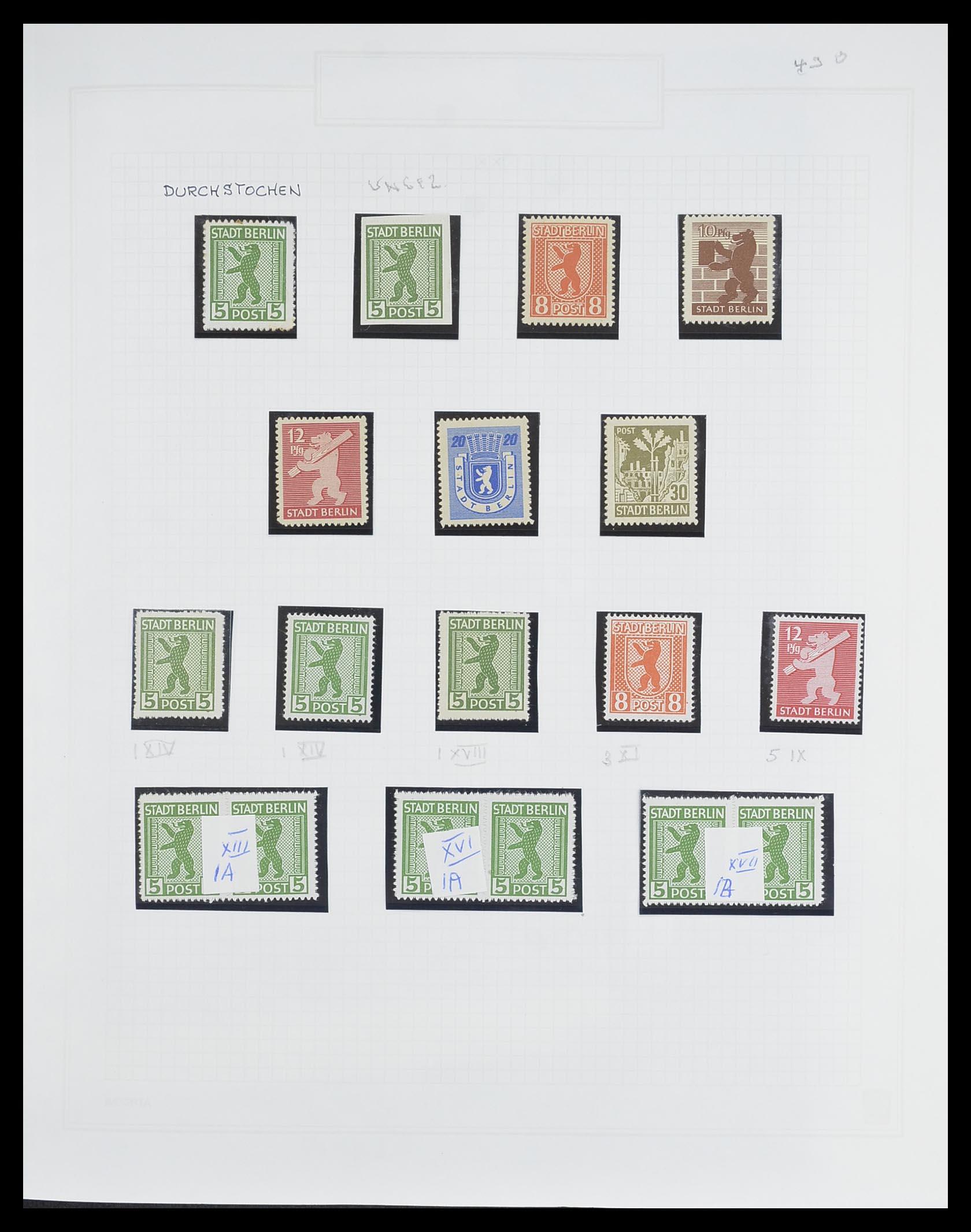33698 002 - Postzegelverzameling 33698 Sovjet Zone 1945-1948.