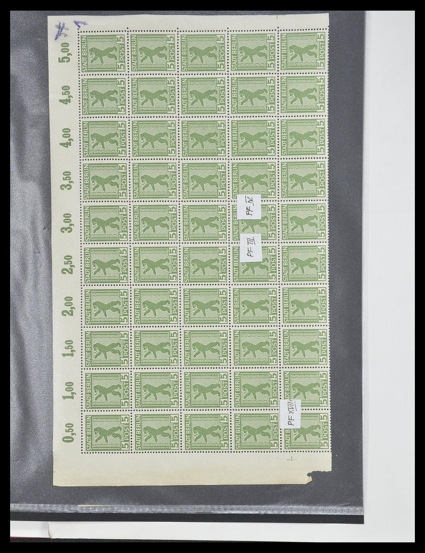 33698 003 - Postzegelverzameling 33698 Sovjet Zone 1945-1948.
