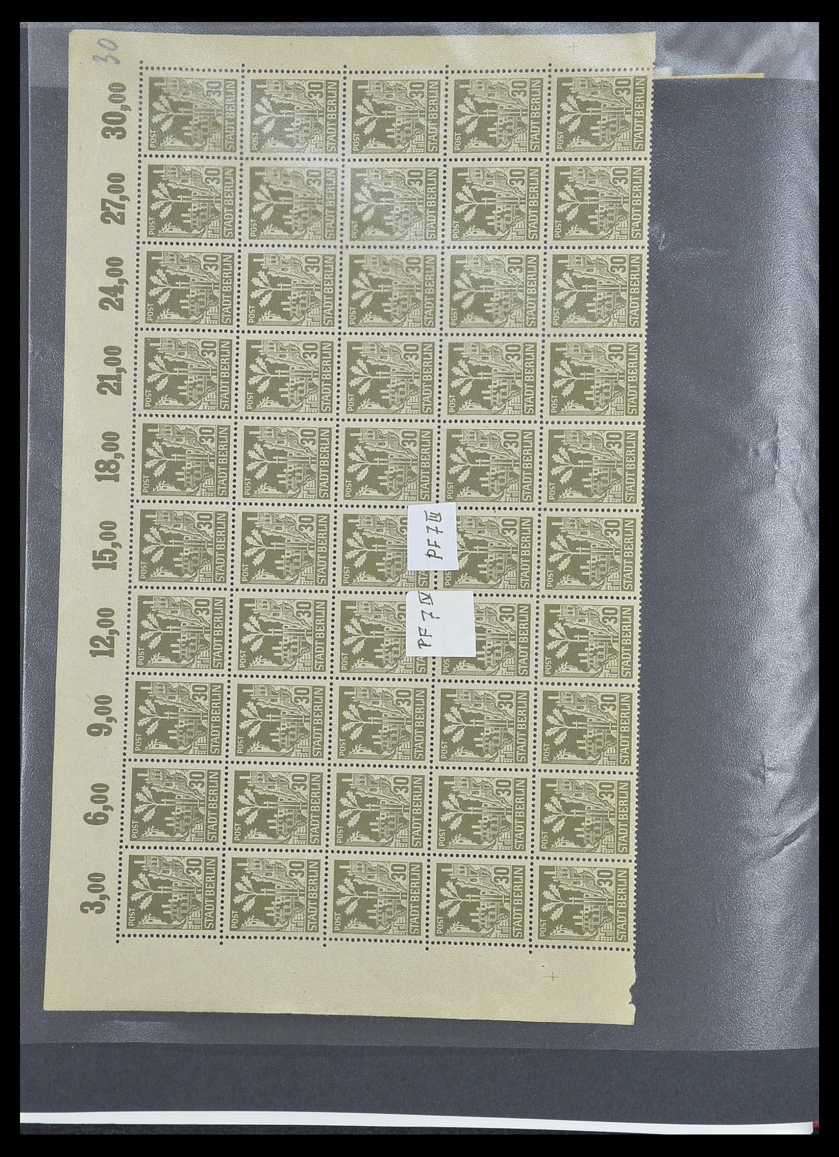 33698 010 - Postzegelverzameling 33698 Sovjet Zone 1945-1948.