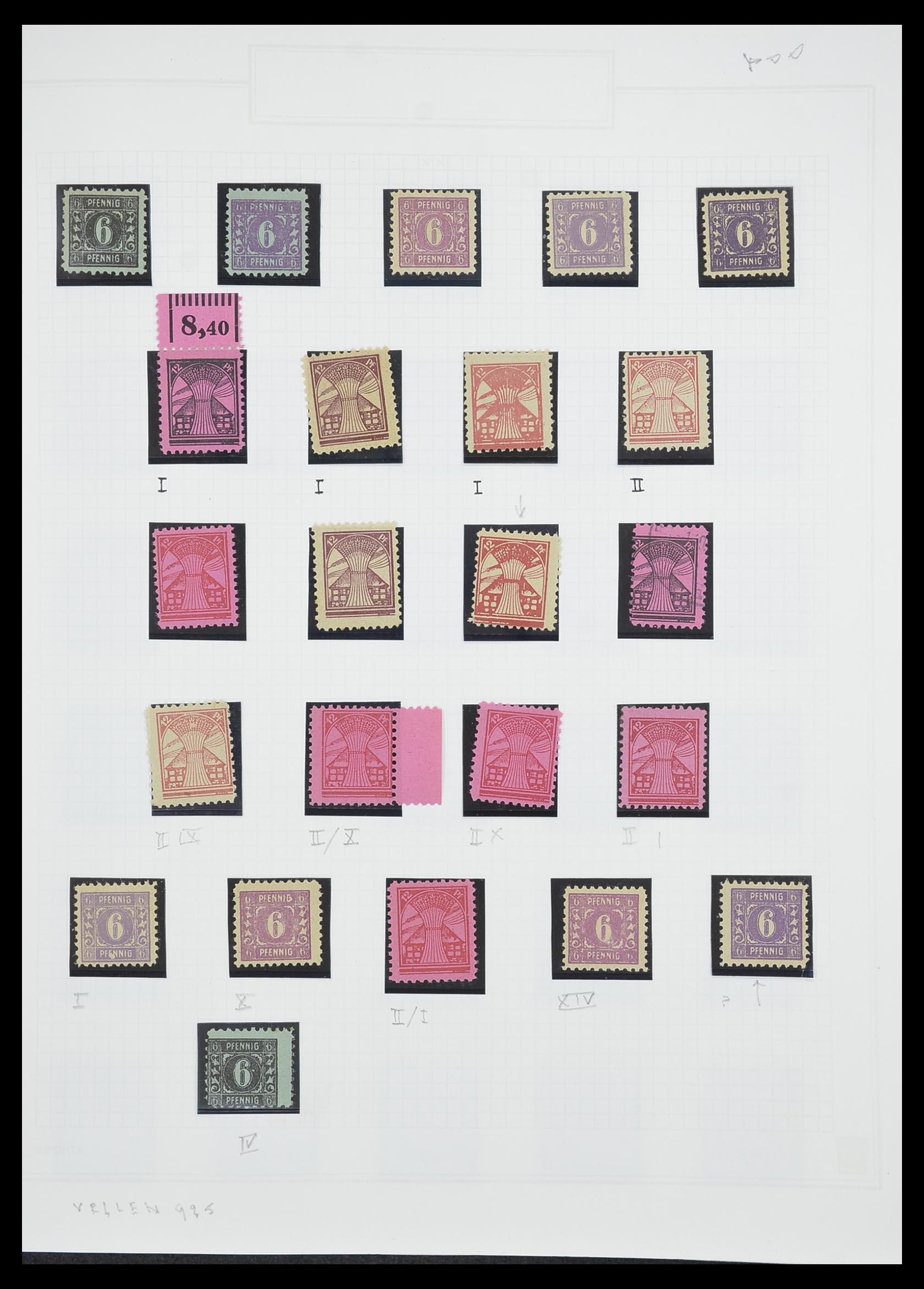 33698 011 - Postzegelverzameling 33698 Sovjet Zone 1945-1948.