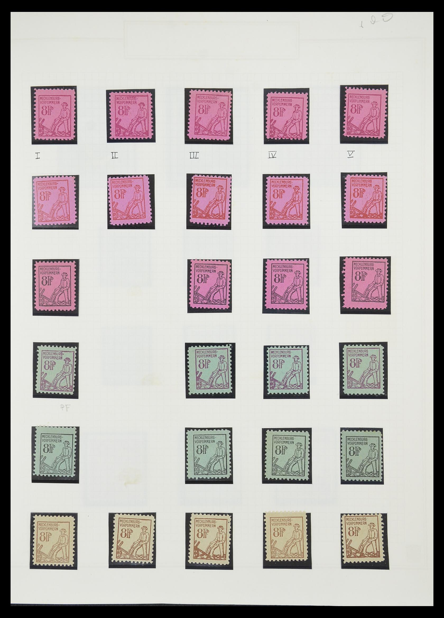 33698 012 - Postzegelverzameling 33698 Sovjet Zone 1945-1948.