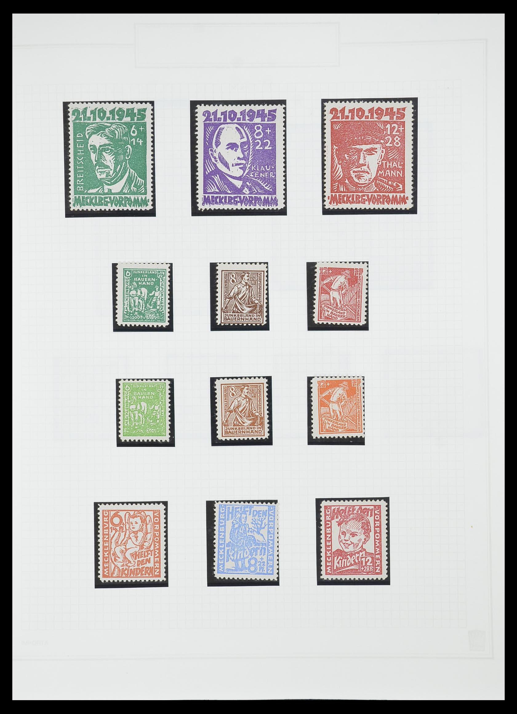 33698 013 - Postzegelverzameling 33698 Sovjet Zone 1945-1948.