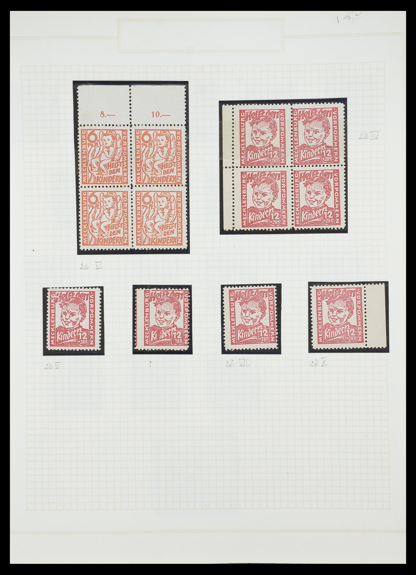 33698 014 - Postzegelverzameling 33698 Sovjet Zone 1945-1948.