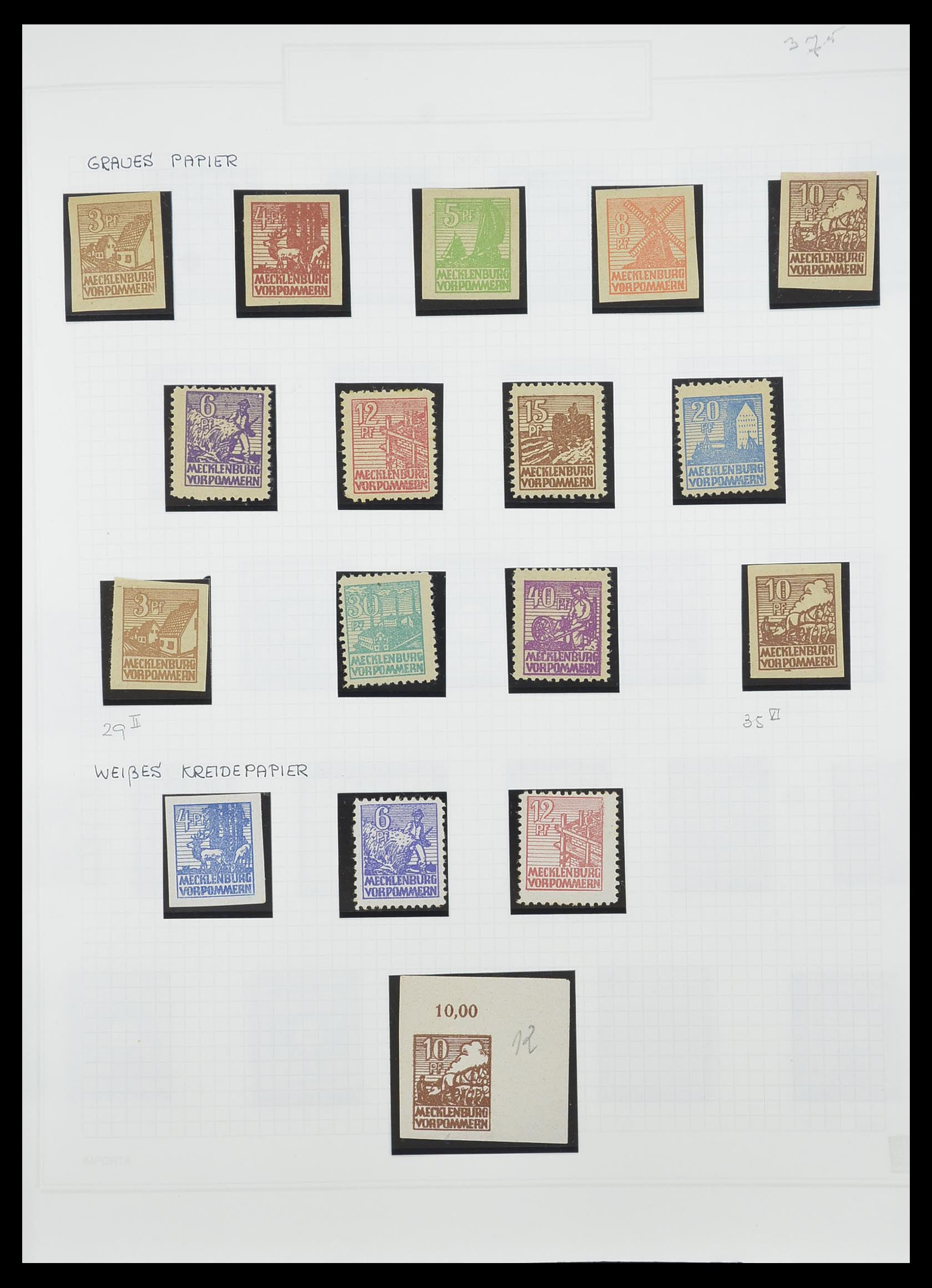 33698 015 - Postzegelverzameling 33698 Sovjet Zone 1945-1948.