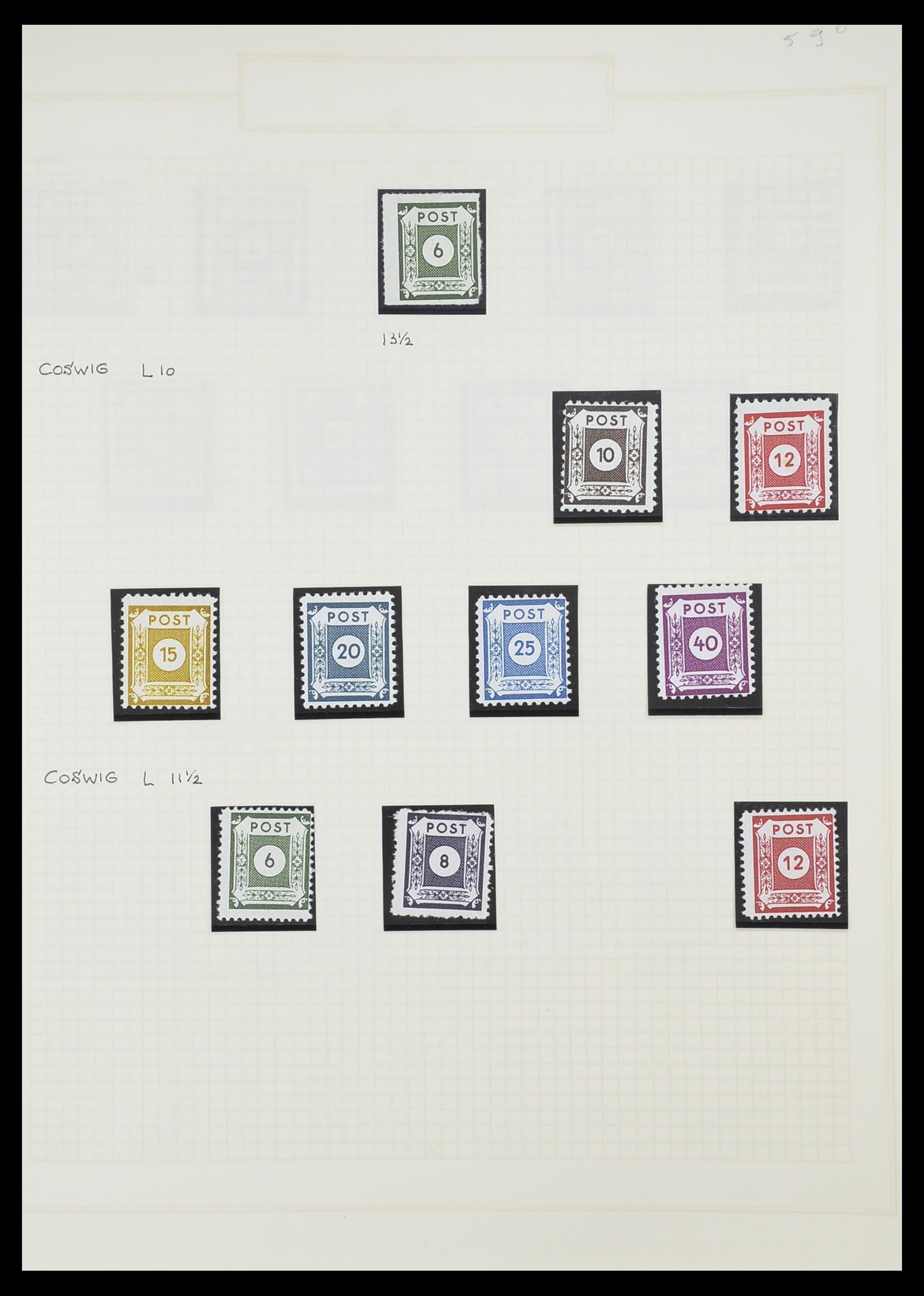 33698 017 - Postzegelverzameling 33698 Sovjet Zone 1945-1948.