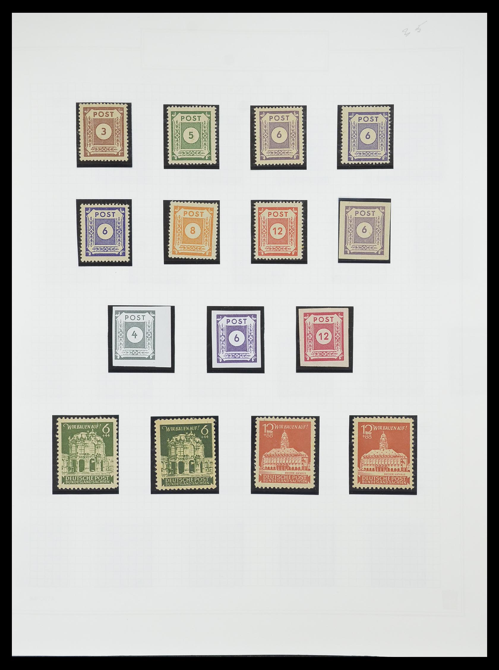 33698 019 - Postzegelverzameling 33698 Sovjet Zone 1945-1948.