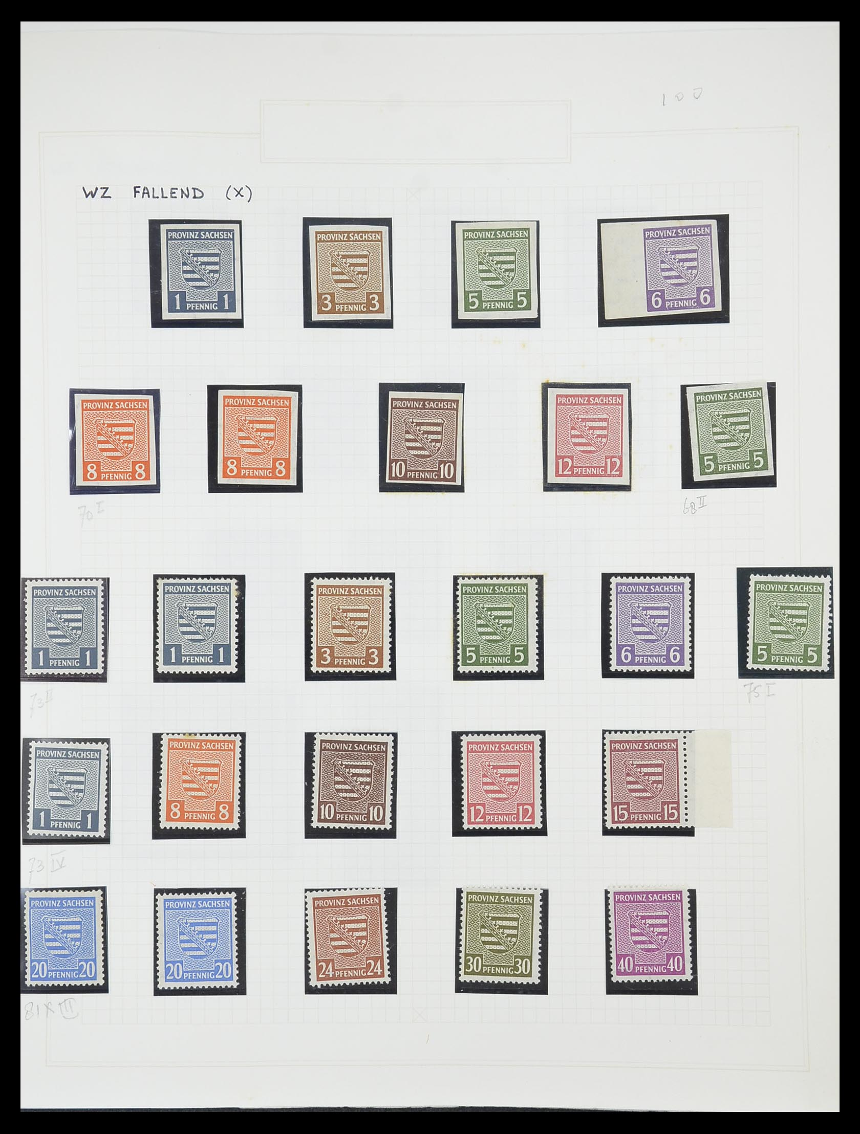 33698 020 - Postzegelverzameling 33698 Sovjet Zone 1945-1948.