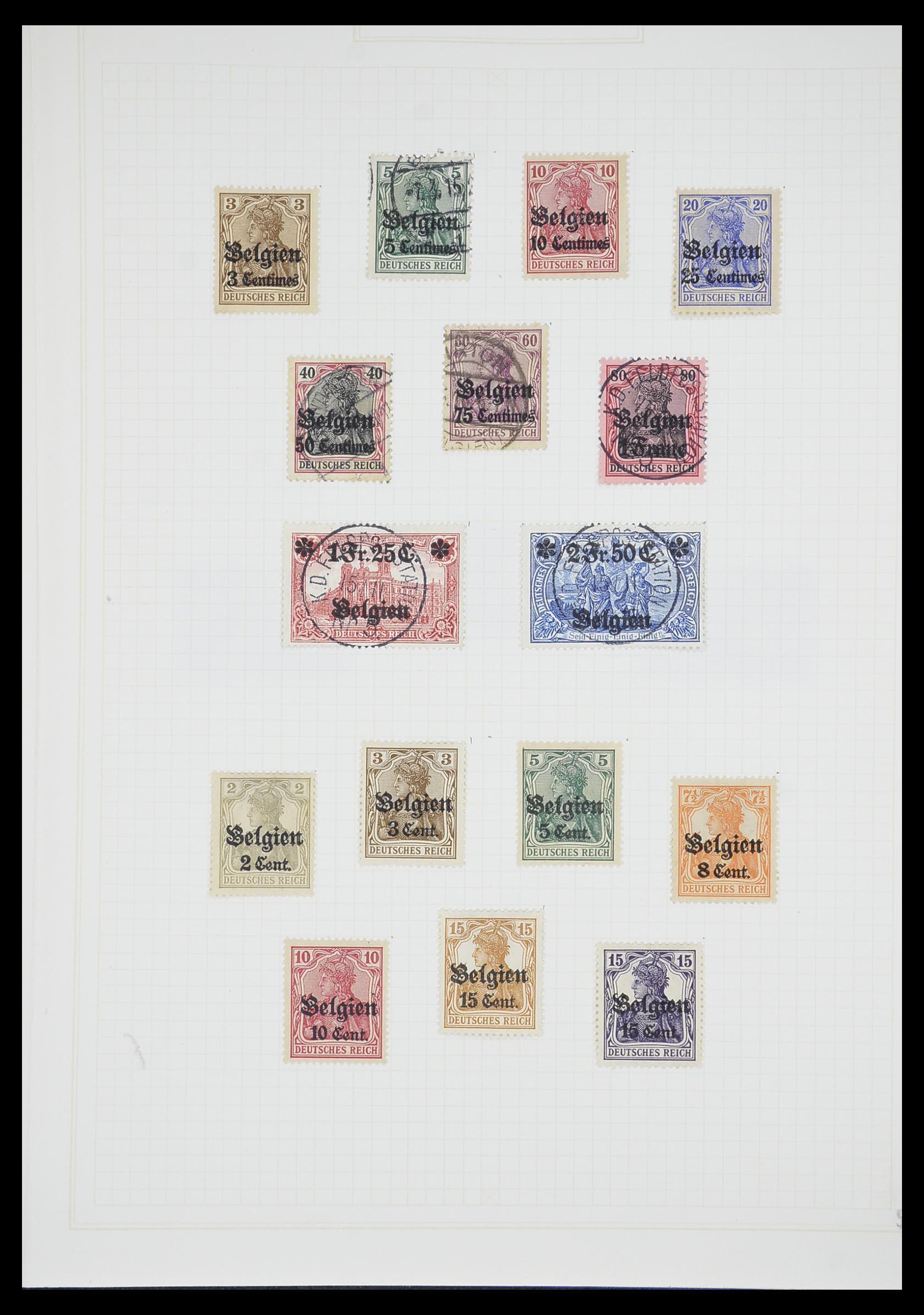 33713 001 - Postzegelverzameling 33713 Duitse bezettingen WO I en WO II 1914-1945