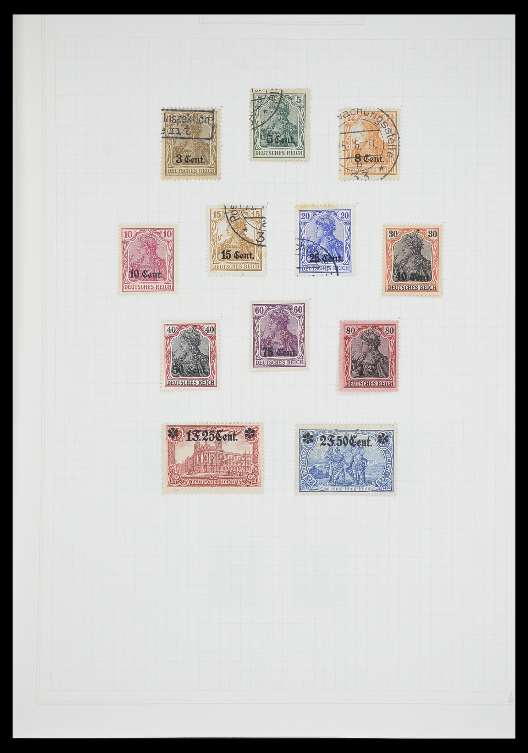 33713 003 - Postzegelverzameling 33713 Duitse bezettingen WO I en WO II 1914-1945