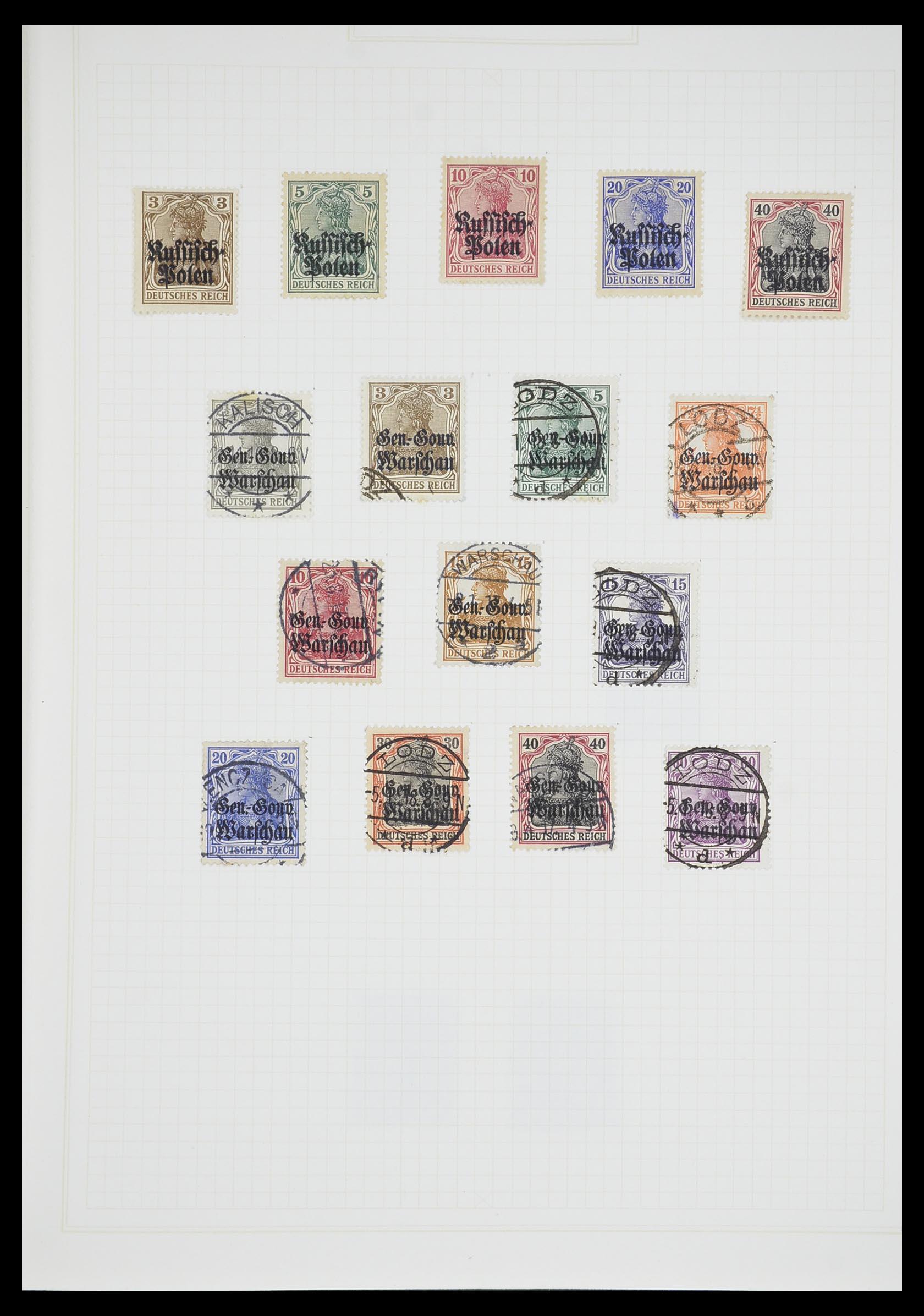 33713 005 - Postzegelverzameling 33713 Duitse bezettingen WO I en WO II 1914-1945