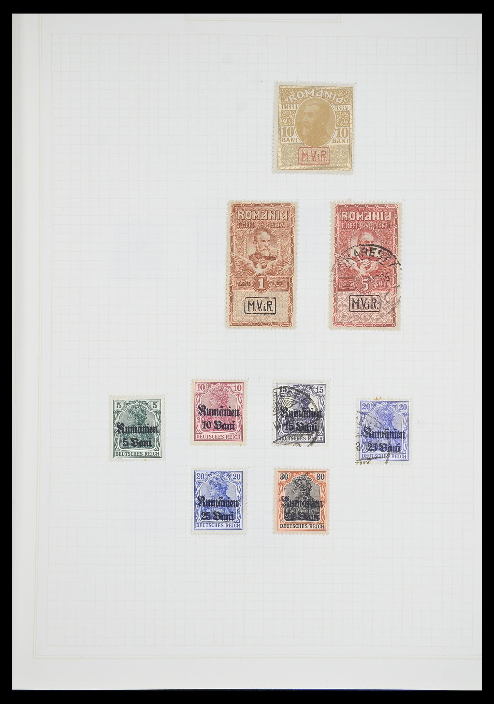 33713 008 - Postzegelverzameling 33713 Duitse bezettingen WO I en WO II 1914-1945