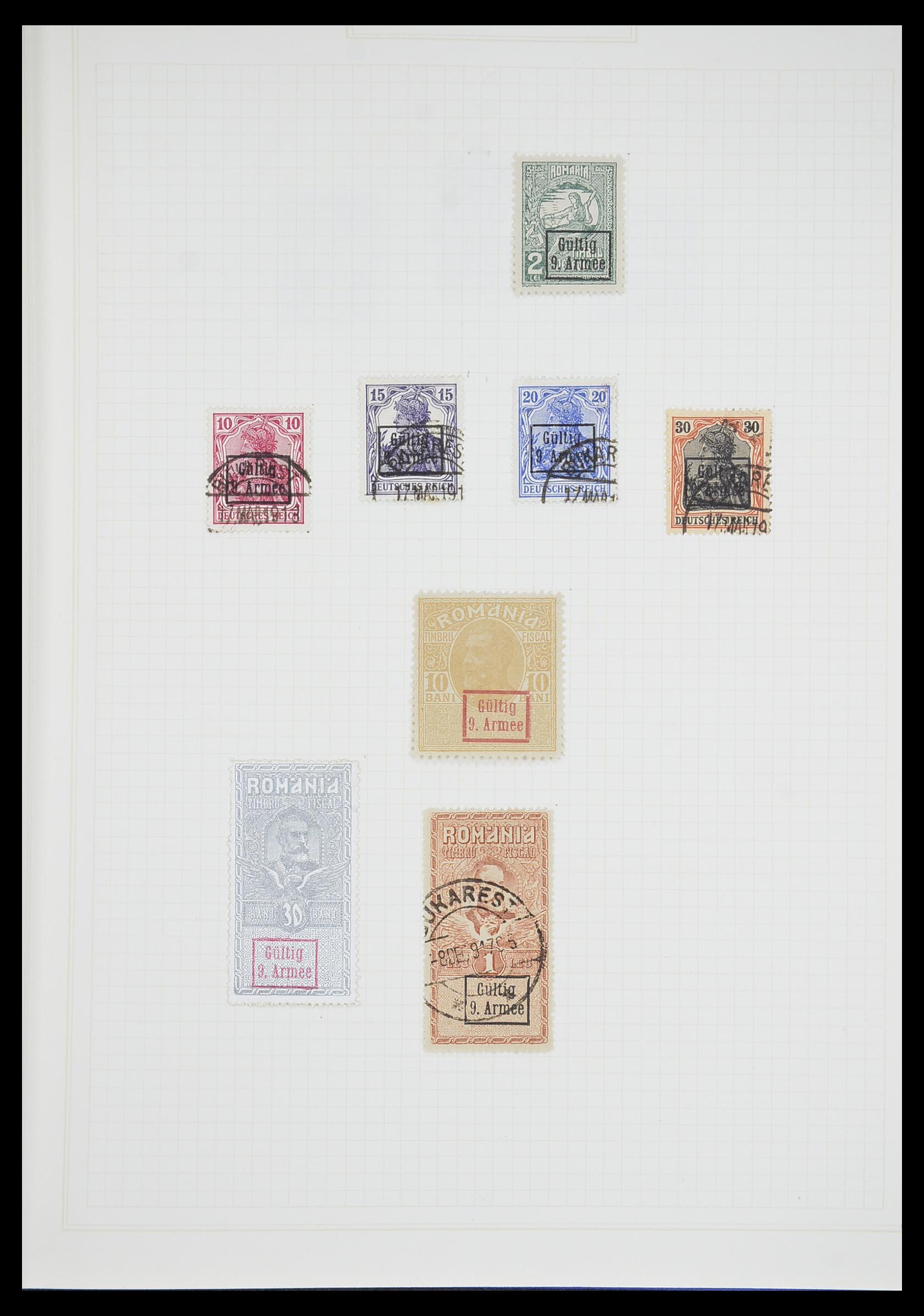 33713 009 - Postzegelverzameling 33713 Duitse bezettingen WO I en WO II 1914-1945
