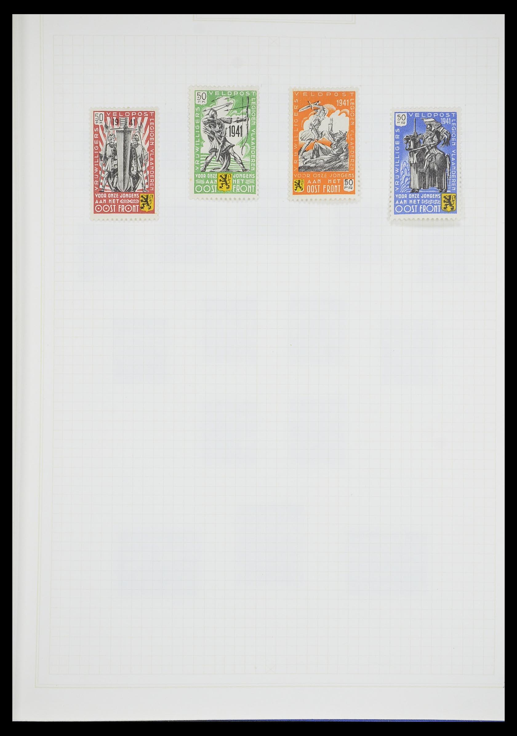 33713 011 - Postzegelverzameling 33713 Duitse bezettingen WO I en WO II 1914-1945