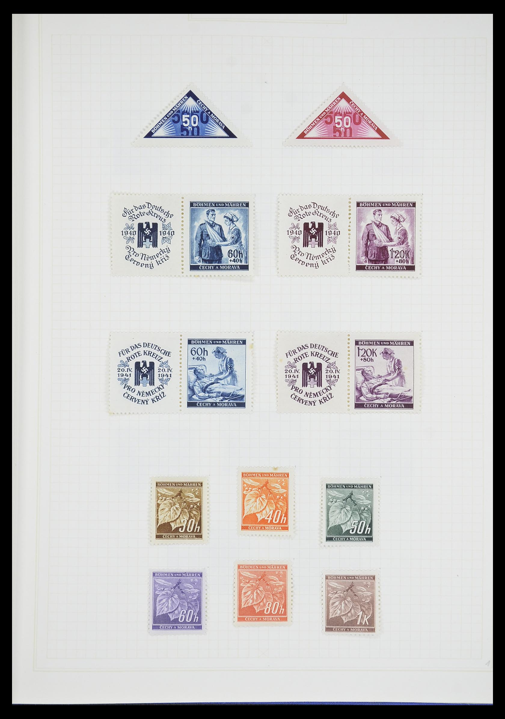 33713 014 - Postzegelverzameling 33713 Duitse bezettingen WO I en WO II 1914-1945