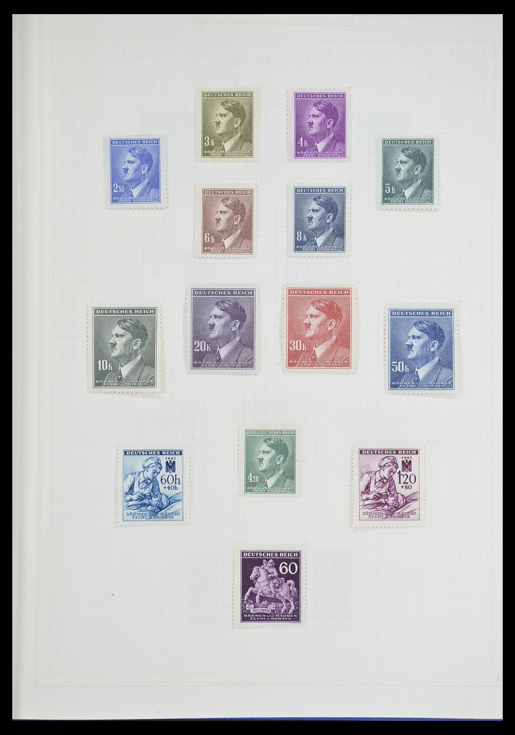 33713 018 - Postzegelverzameling 33713 Duitse bezettingen WO I en WO II 1914-1945