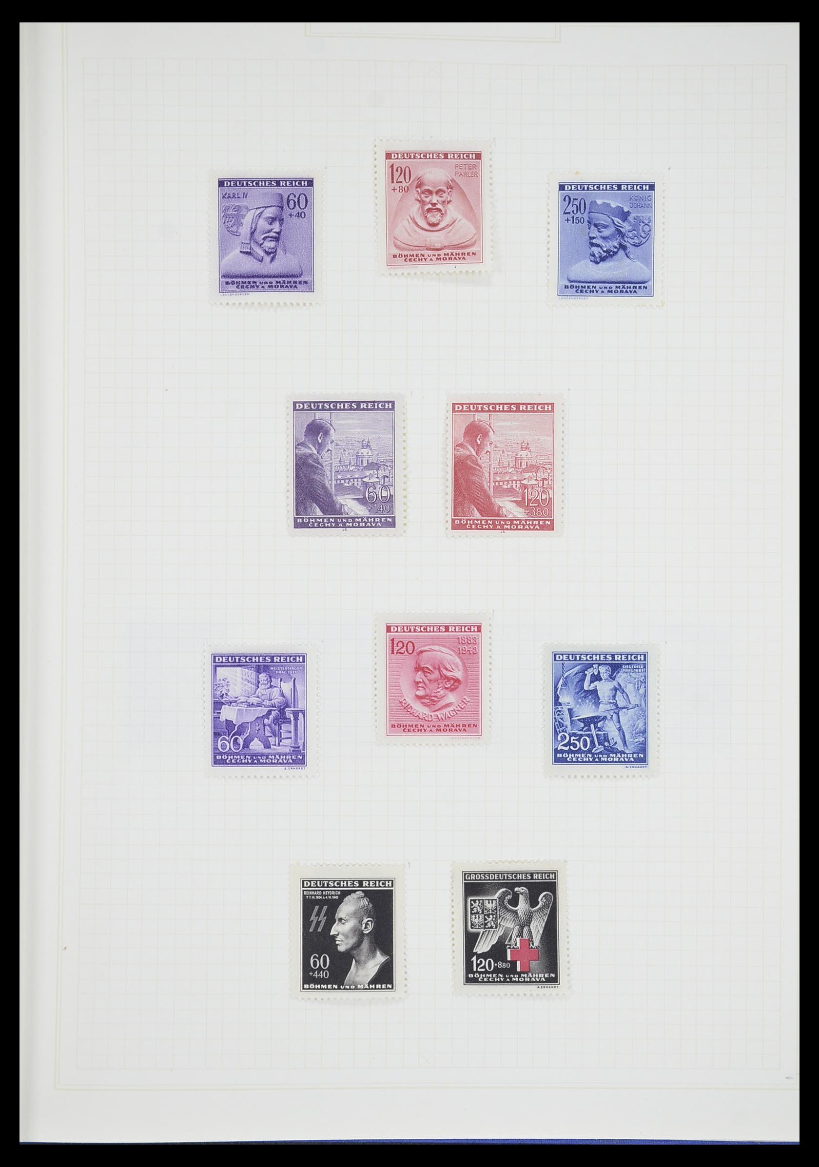 33713 019 - Postzegelverzameling 33713 Duitse bezettingen WO I en WO II 1914-1945