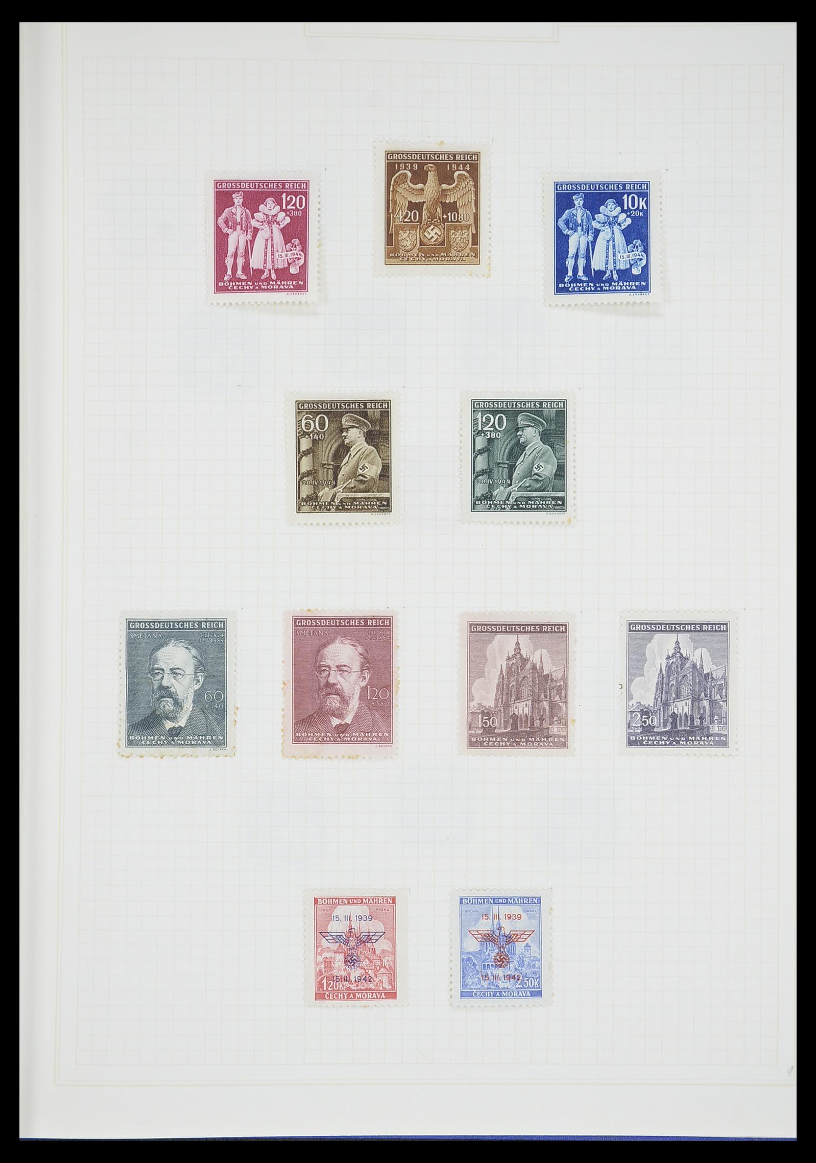 33713 020 - Postzegelverzameling 33713 Duitse bezettingen WO I en WO II 1914-1945