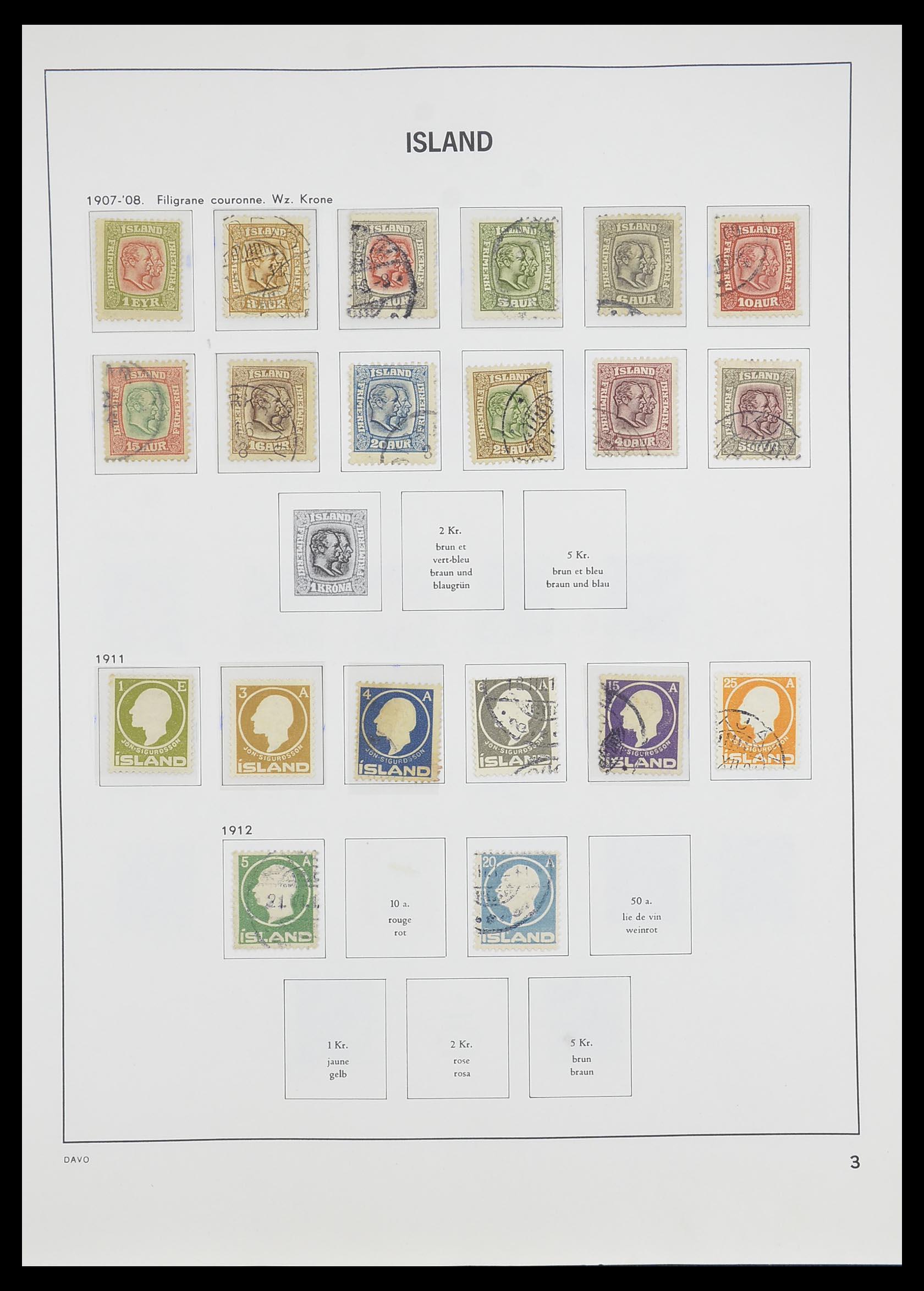 33785 003 - Postzegelverzameling 33785 IJsland 1876-1990.