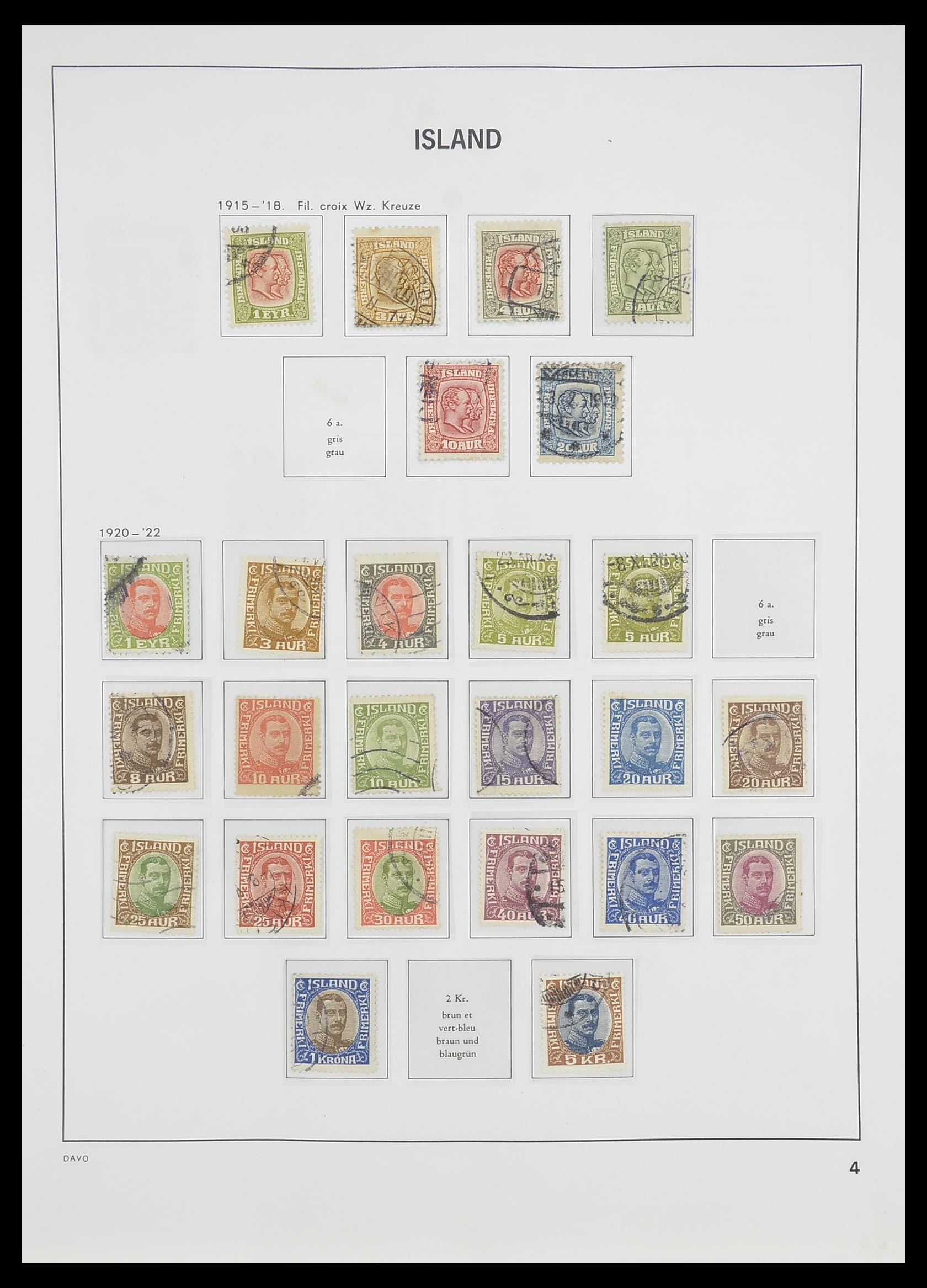 33785 005 - Postzegelverzameling 33785 IJsland 1876-1990.