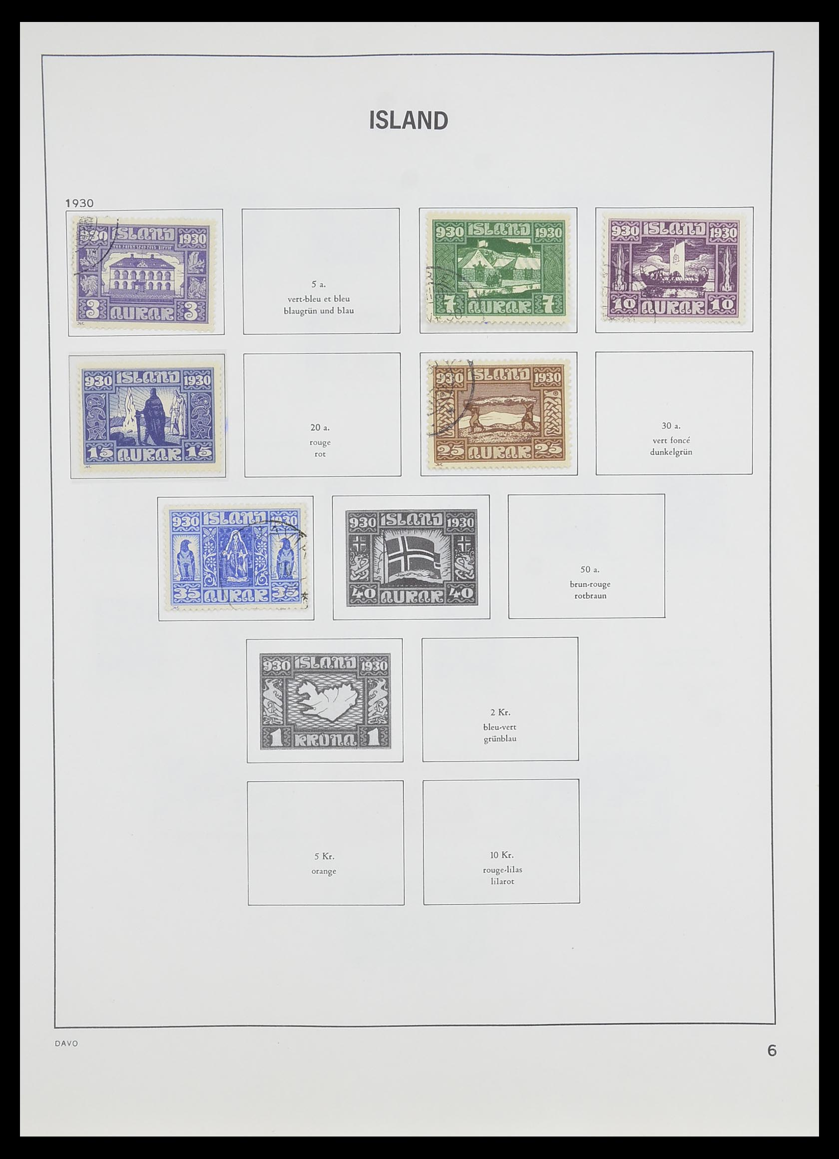 33785 007 - Postzegelverzameling 33785 IJsland 1876-1990.