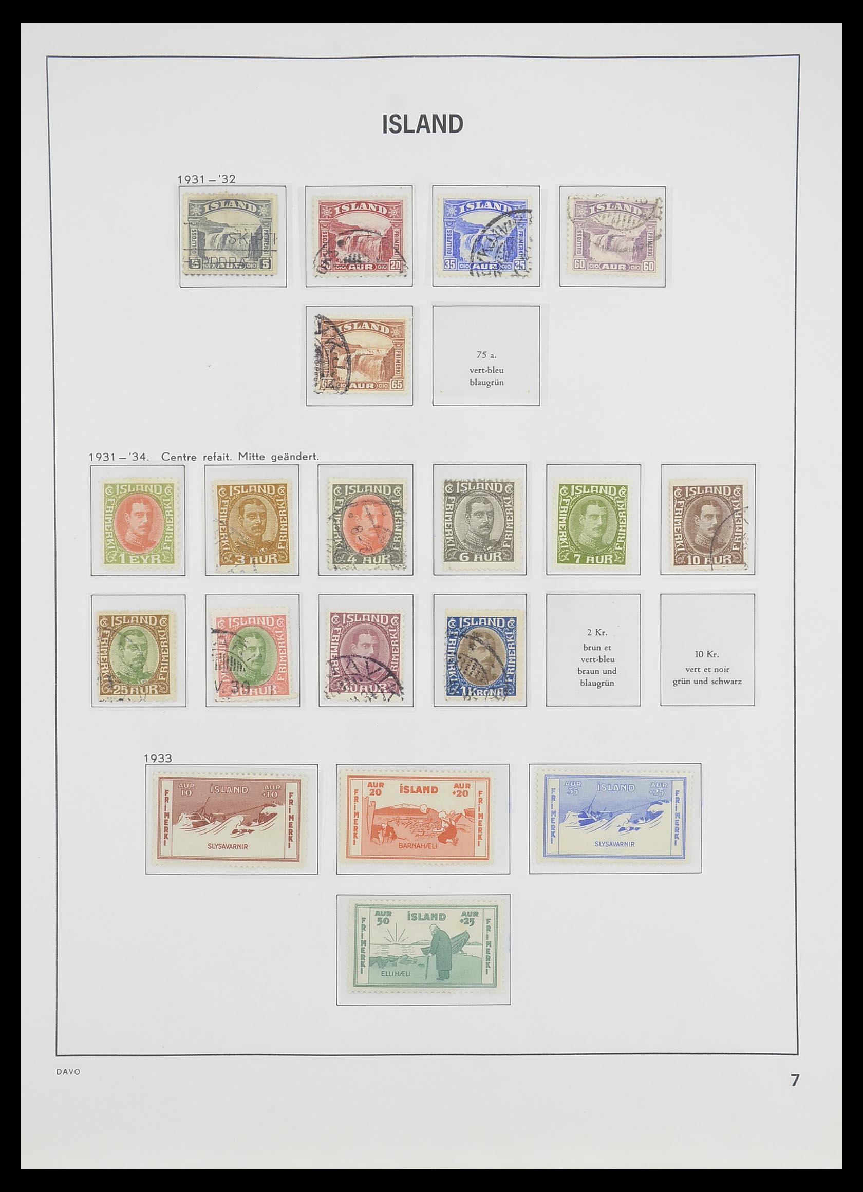 33785 008 - Postzegelverzameling 33785 IJsland 1876-1990.