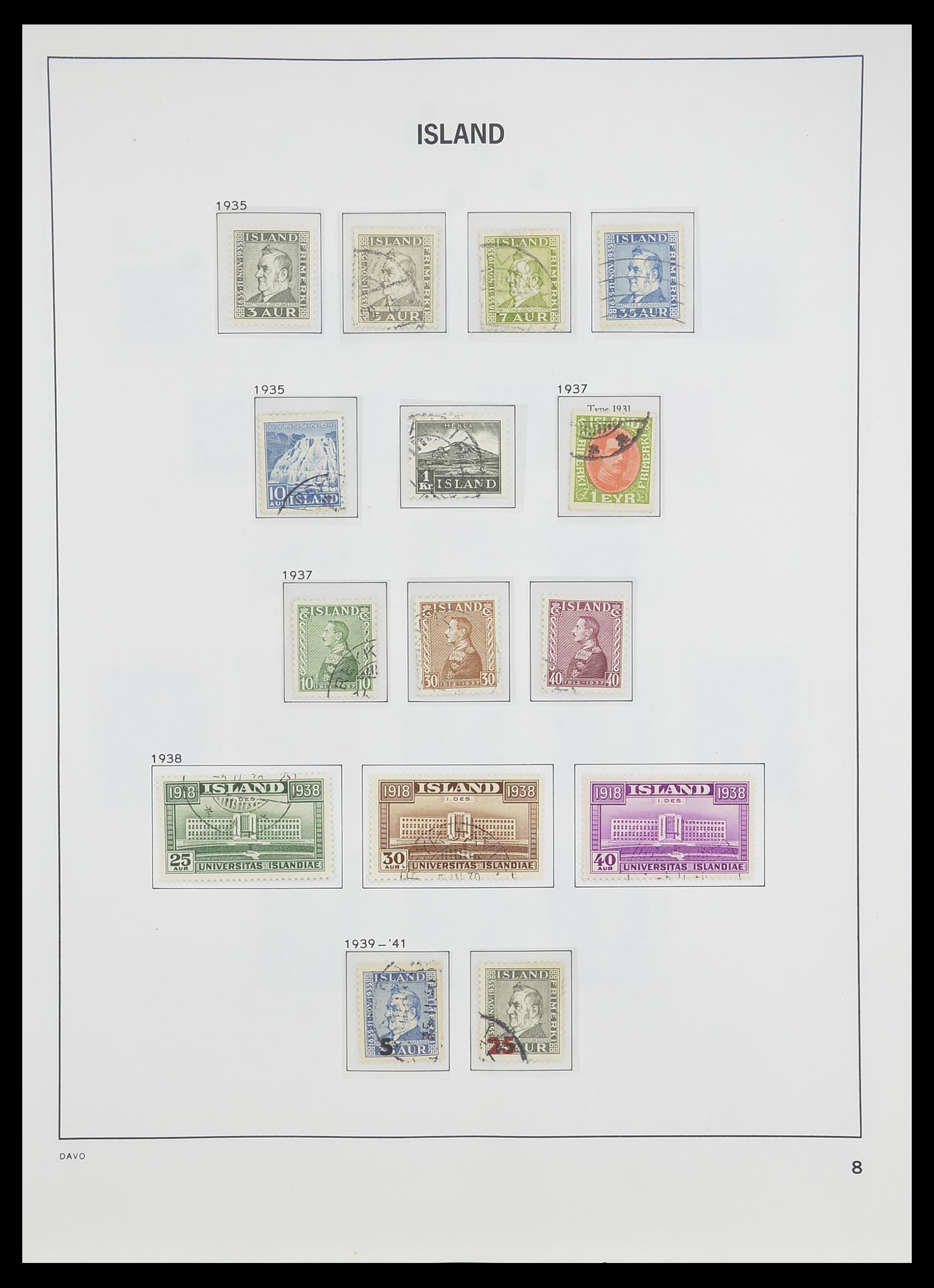 33785 009 - Postzegelverzameling 33785 IJsland 1876-1990.