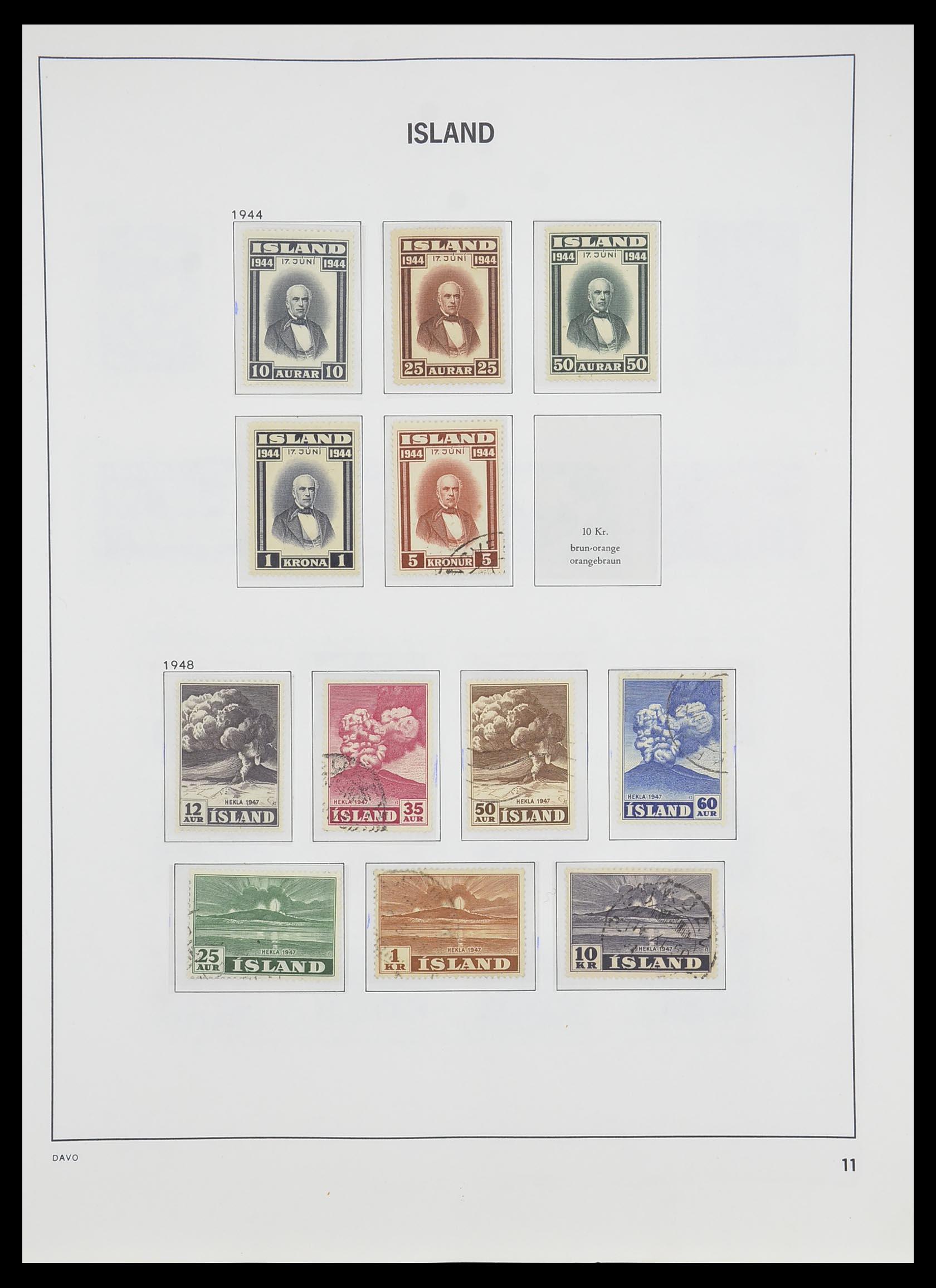 33785 012 - Postzegelverzameling 33785 IJsland 1876-1990.