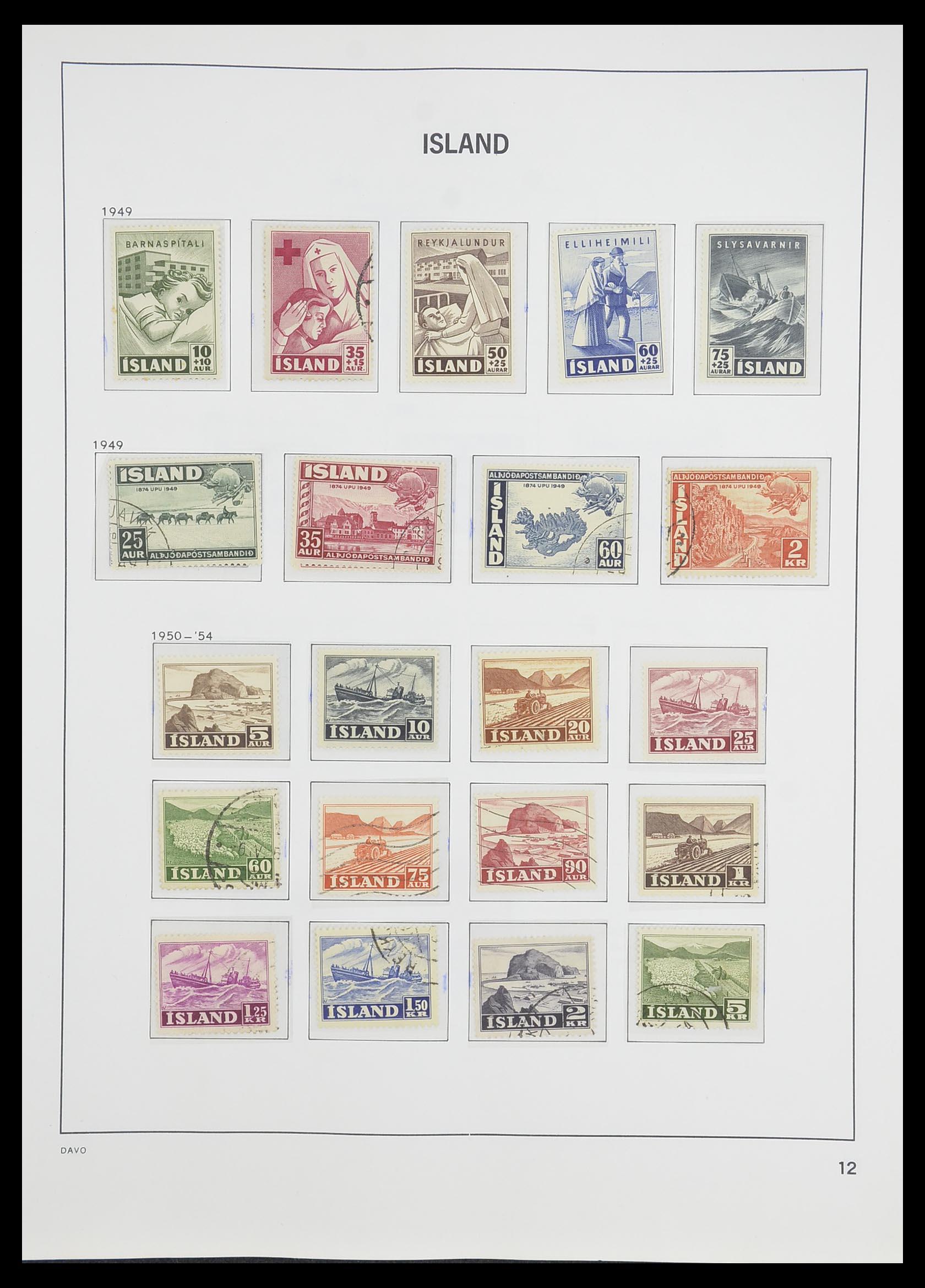 33785 013 - Postzegelverzameling 33785 IJsland 1876-1990.