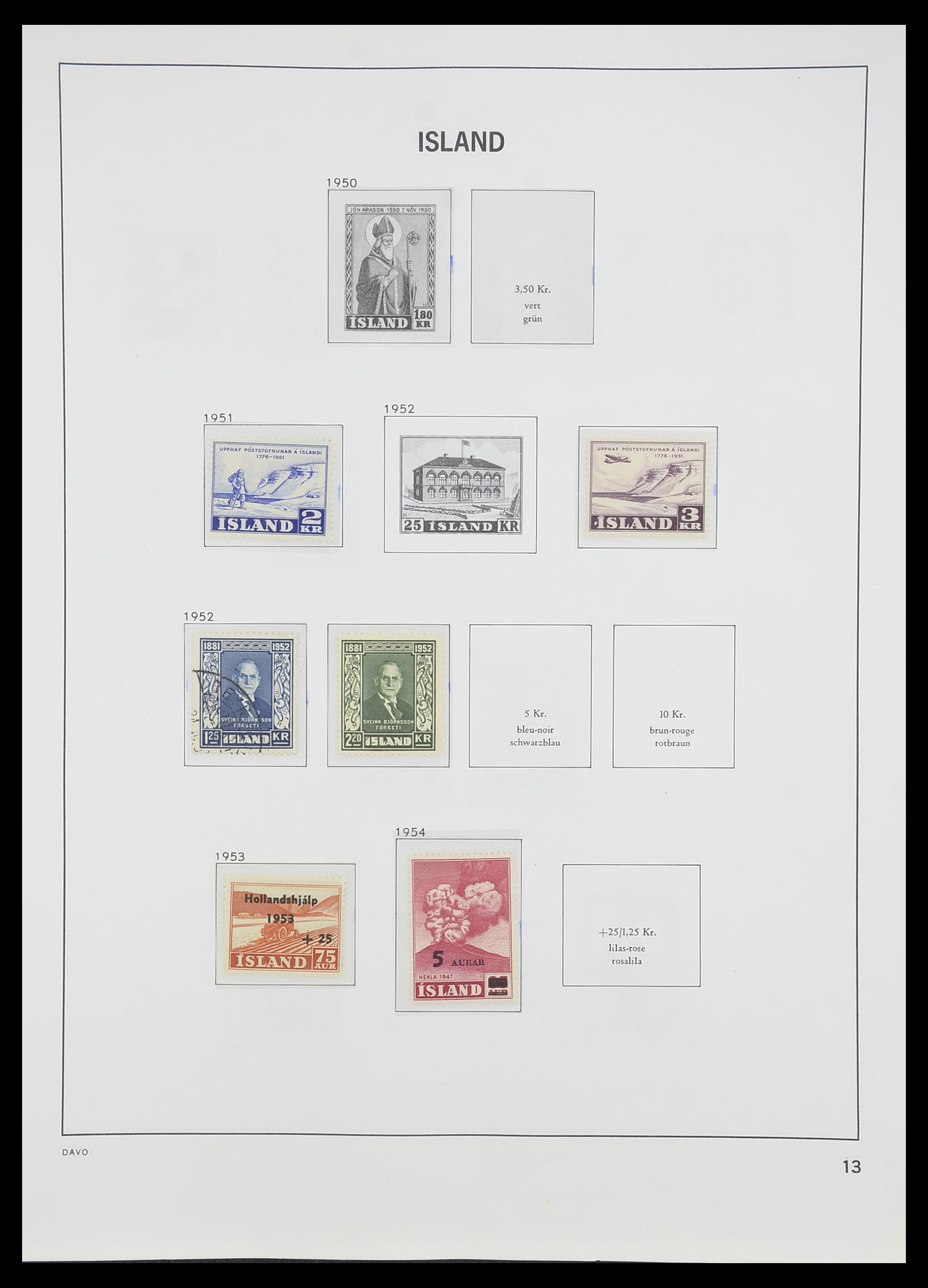 33785 014 - Postzegelverzameling 33785 IJsland 1876-1990.