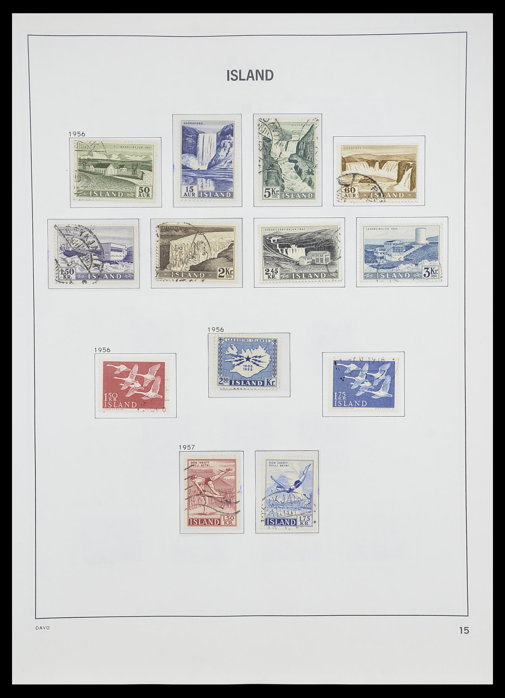 33785 016 - Postzegelverzameling 33785 IJsland 1876-1990.